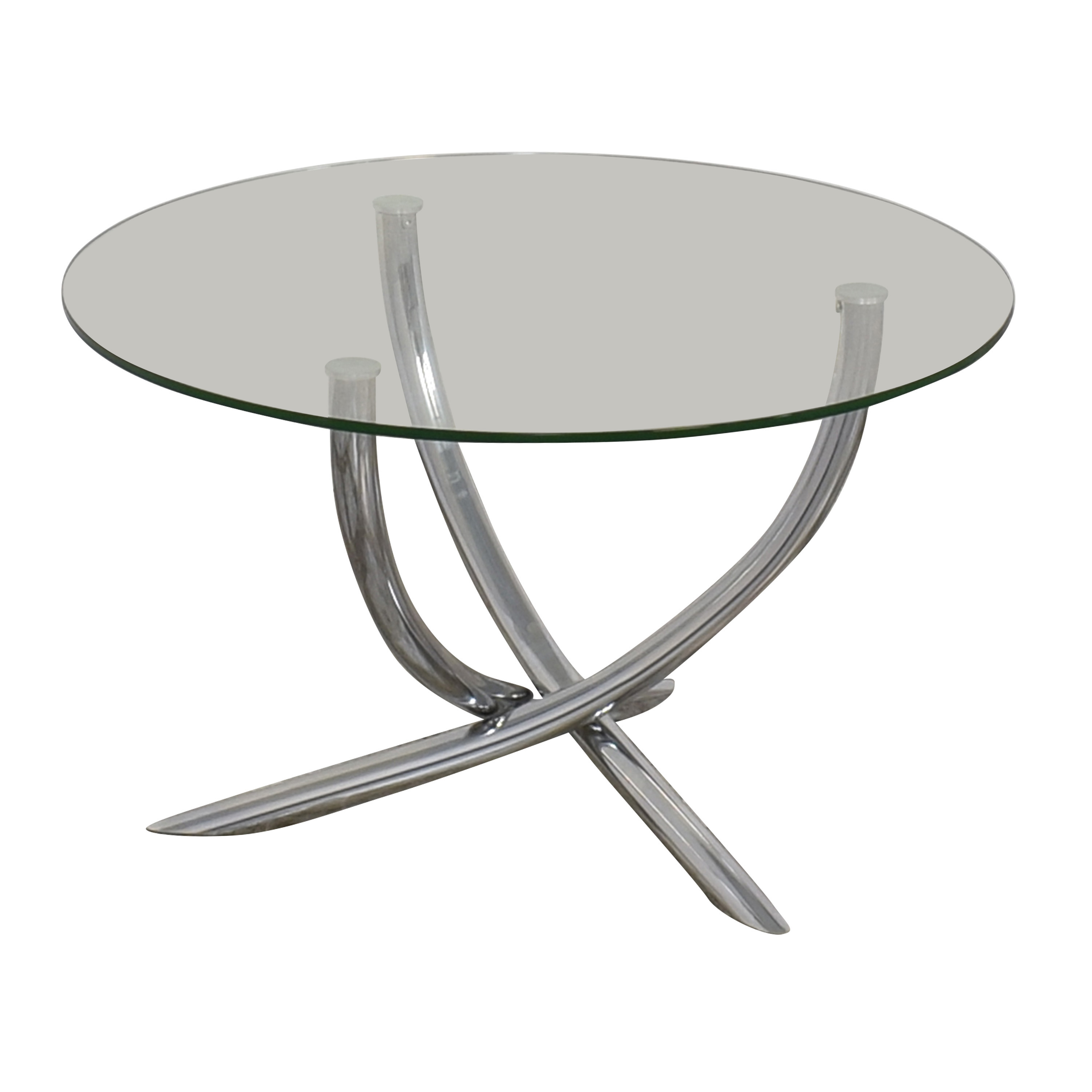 Round Glass Top Table / Tables