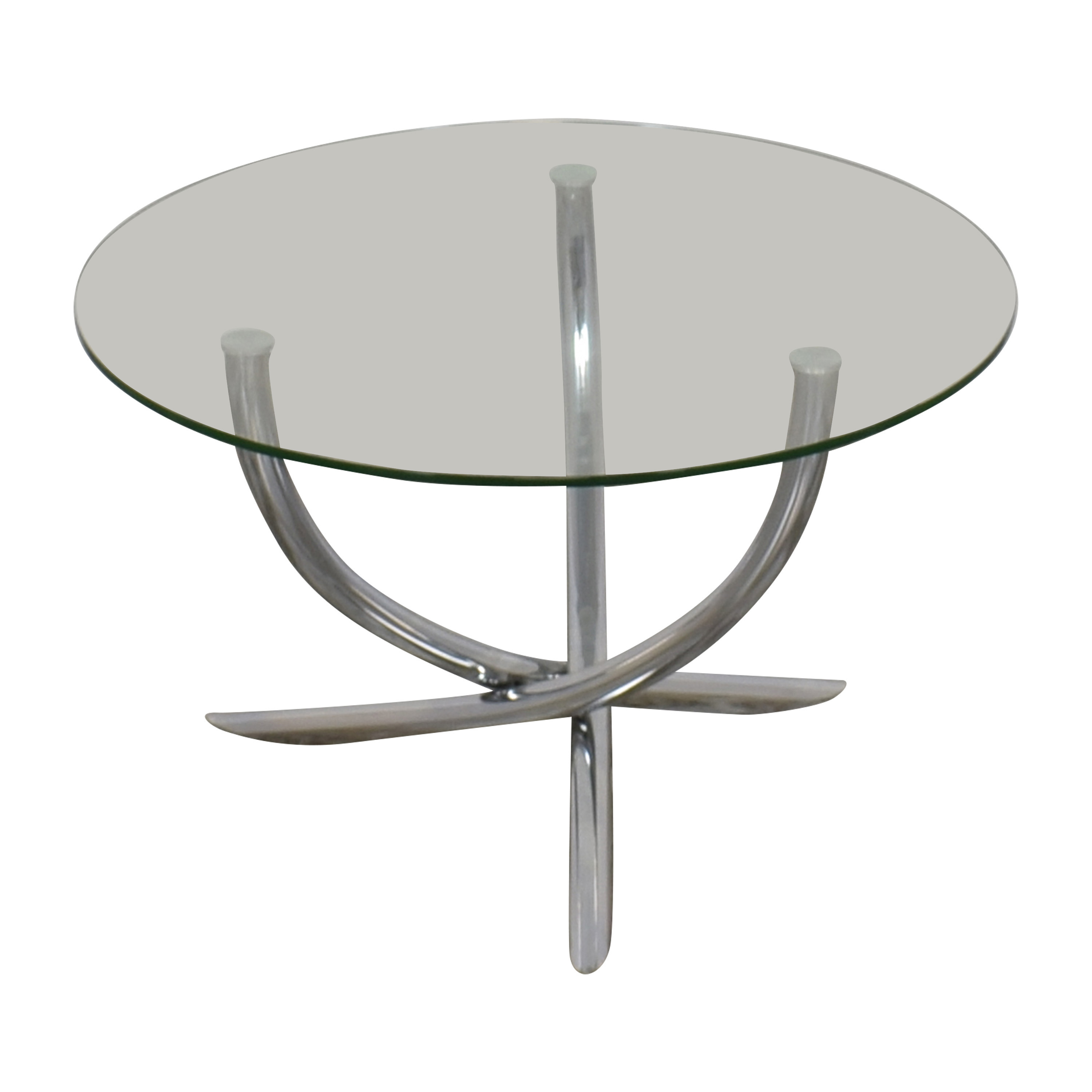 Round Glass Top Table pa
