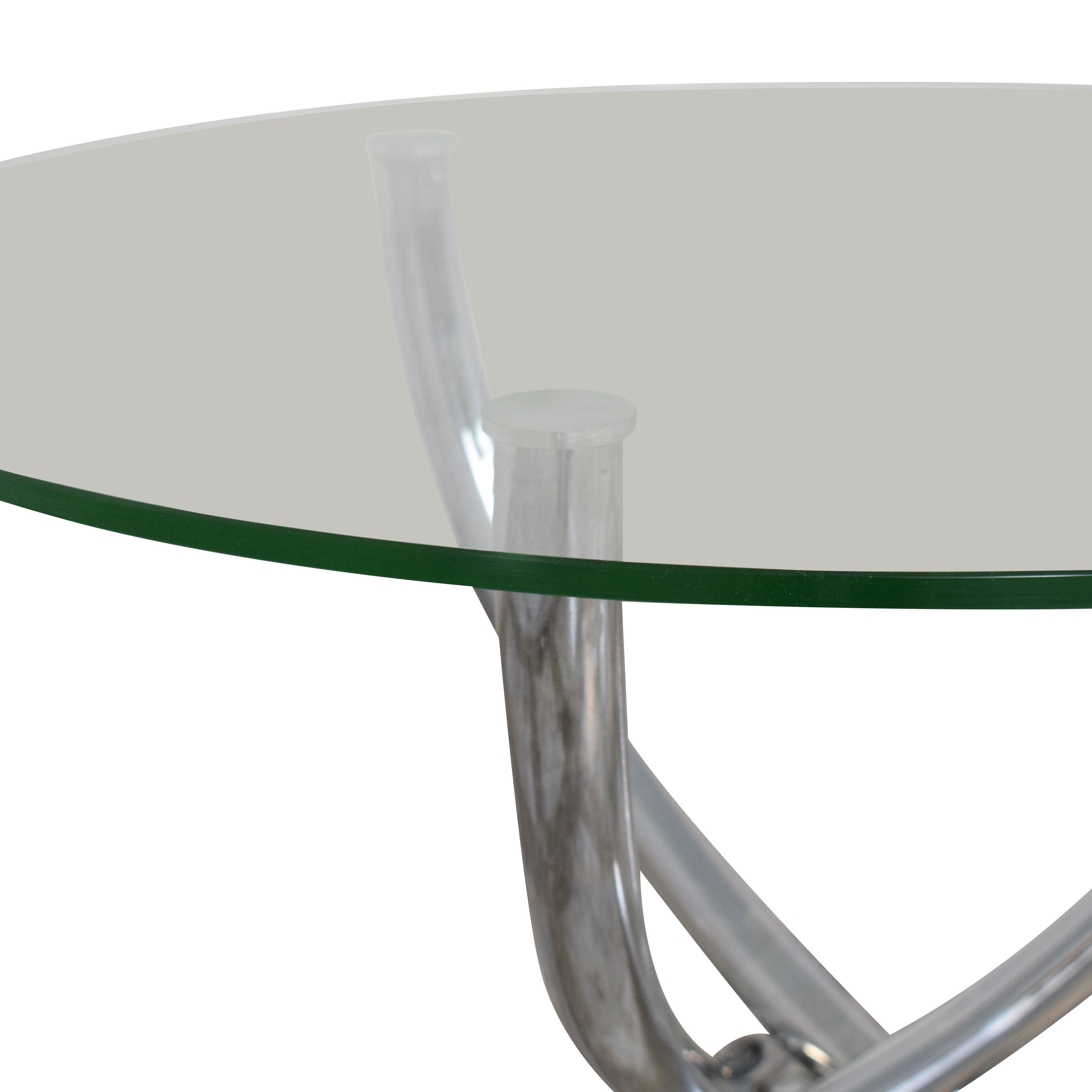 Round Glass Top Table ma