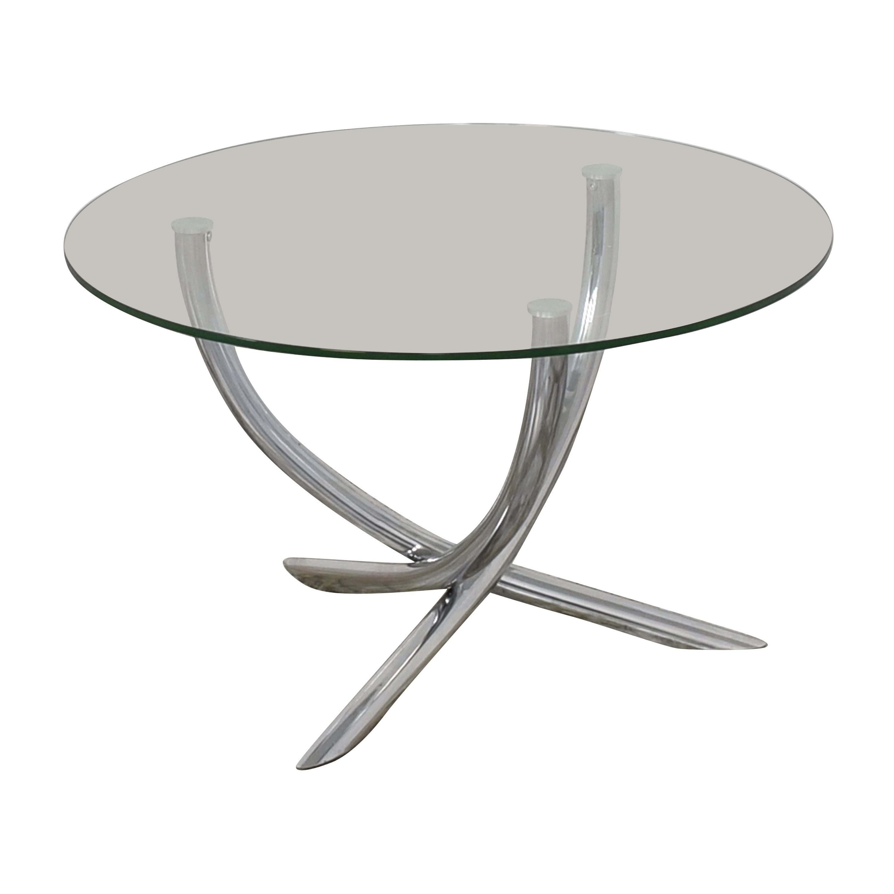 Round Glass Top Table on sale
