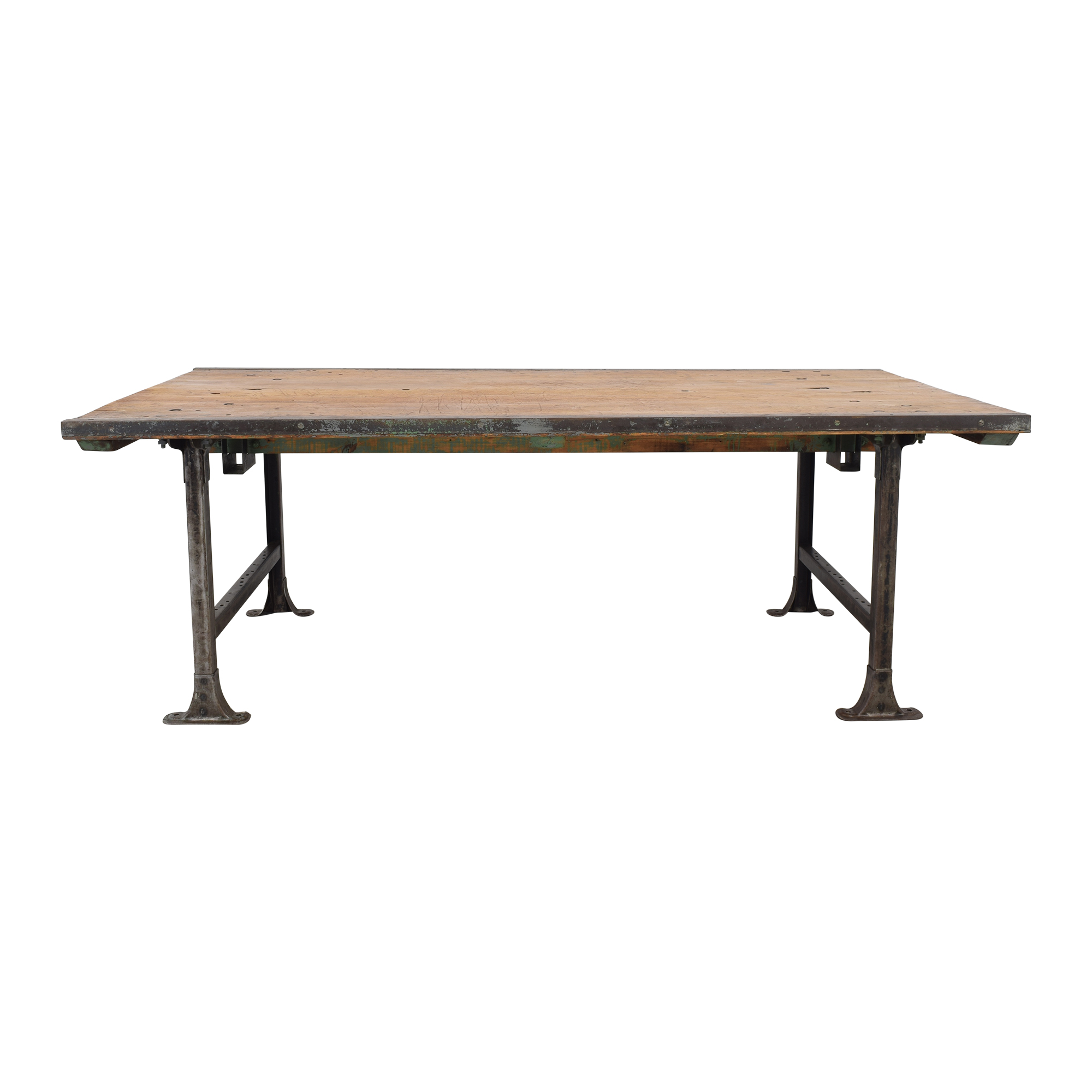 ABC Carpet & Home Vintage Industrial Dining Table ABC Carpet & Home