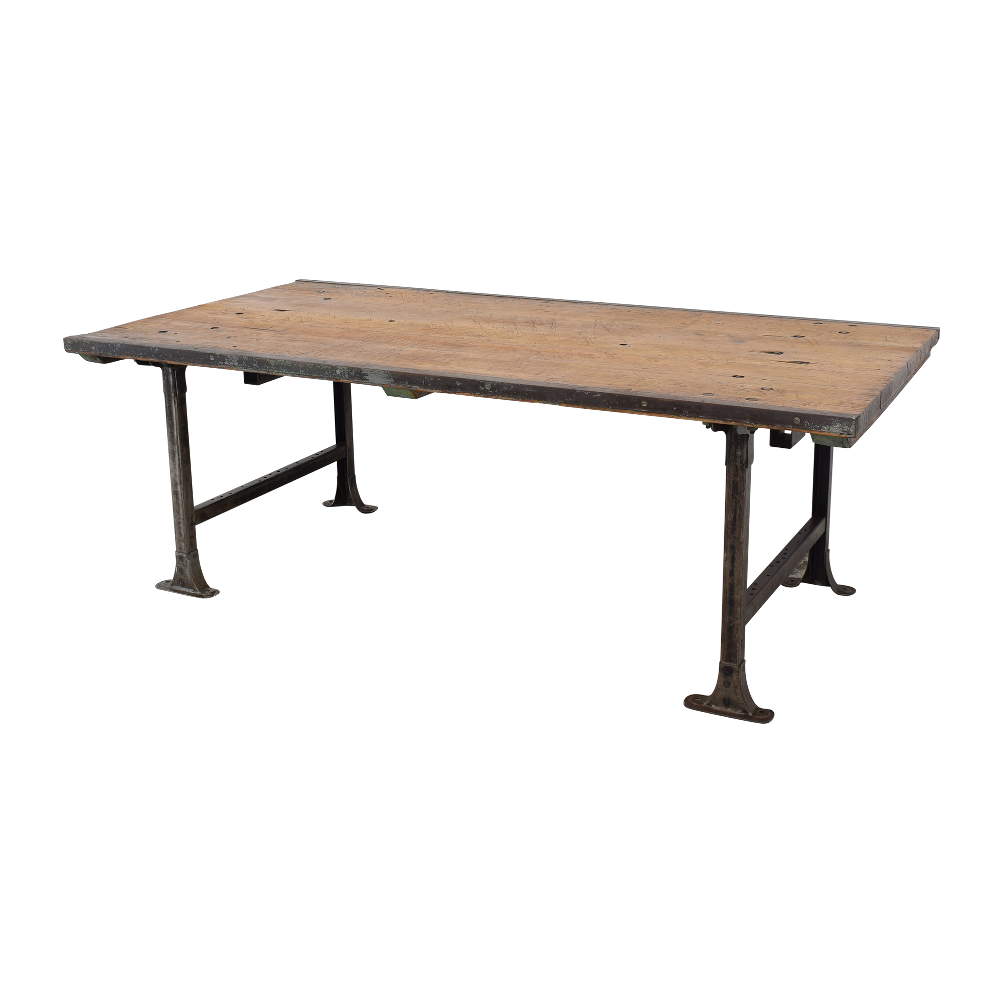 ABC Carpet & Home ABC Carpet & Home Vintage Industrial Dining Table Tables