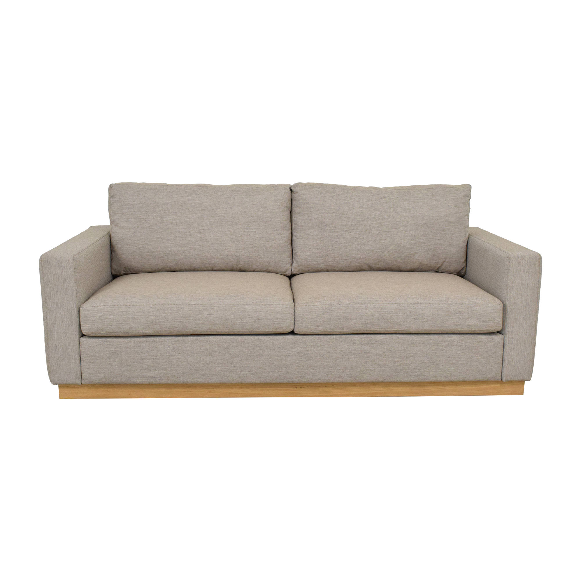 Modern Two Cushion Sofa with Wooden Base price