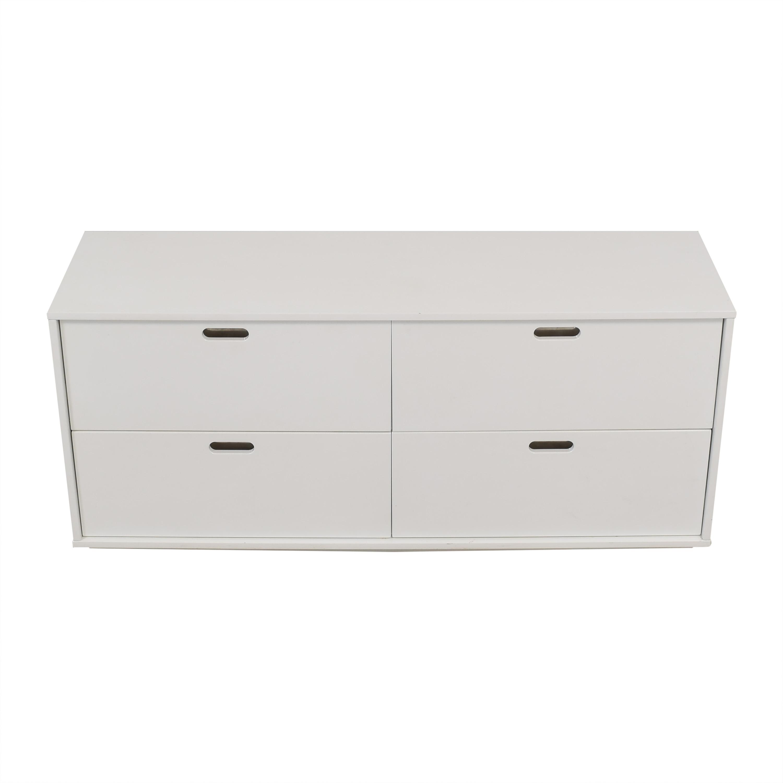 CB2 CB2 White Four-Drawer Low Dresser nyc