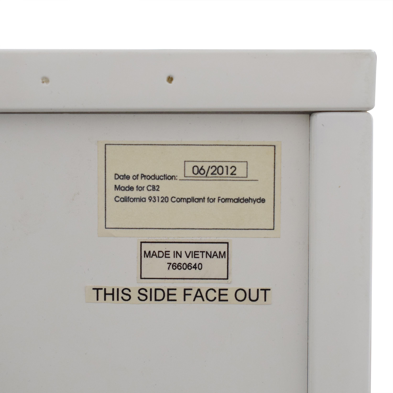 buy CB2 CB2 White Four-Drawer Low Dresser online
