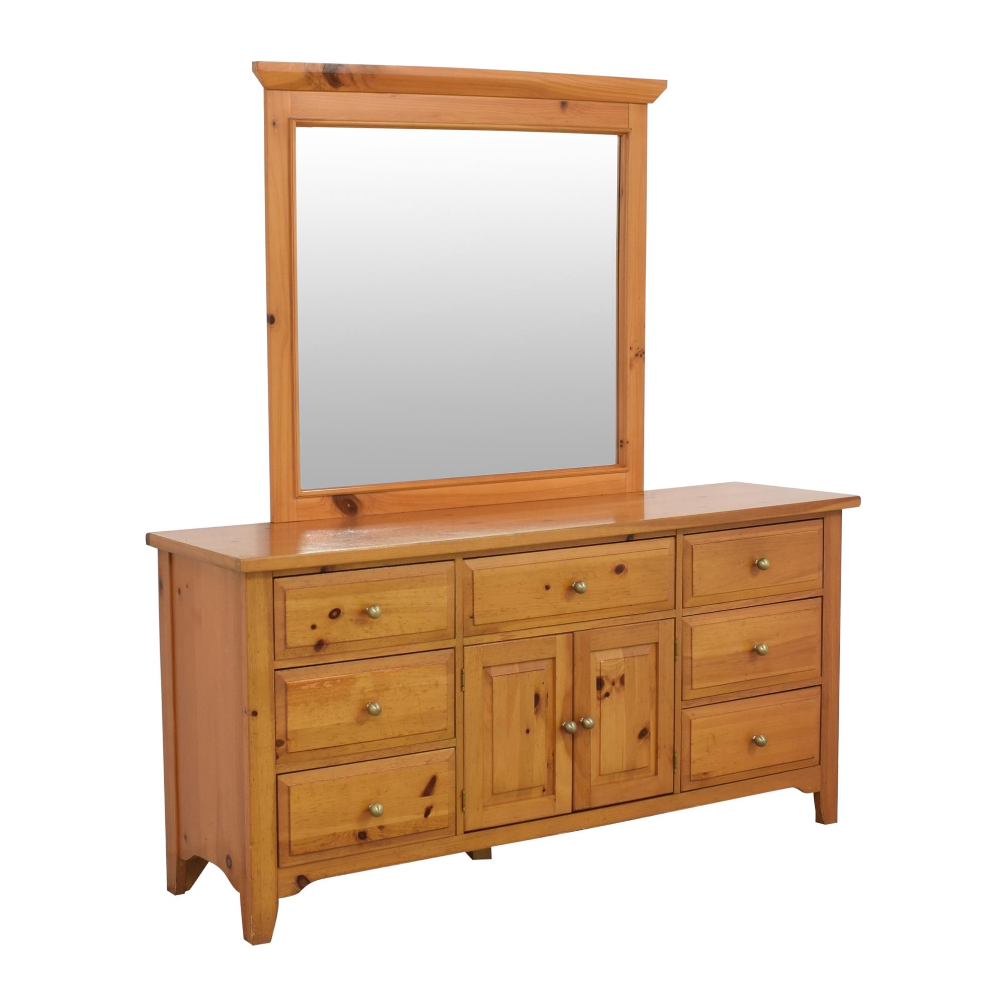 Broyhill Furniture Broyhill Shaker Style Dresser and Mirror nj