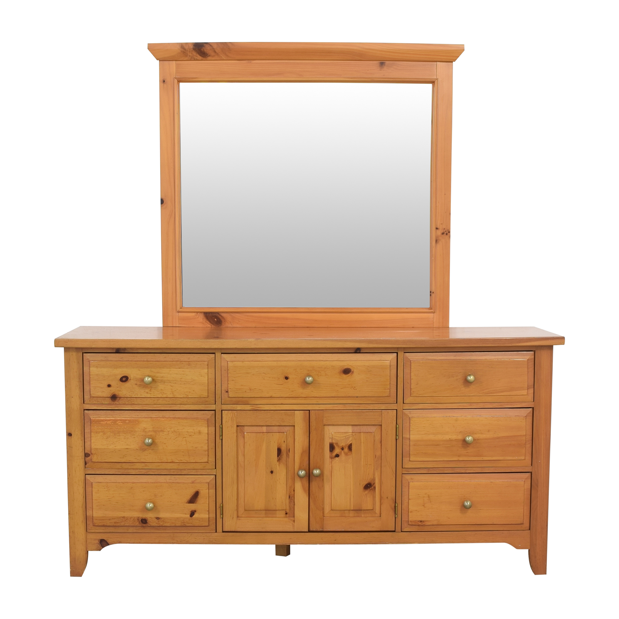 Broyhill Furniture Broyhill Shaker Style Dresser and Mirror used