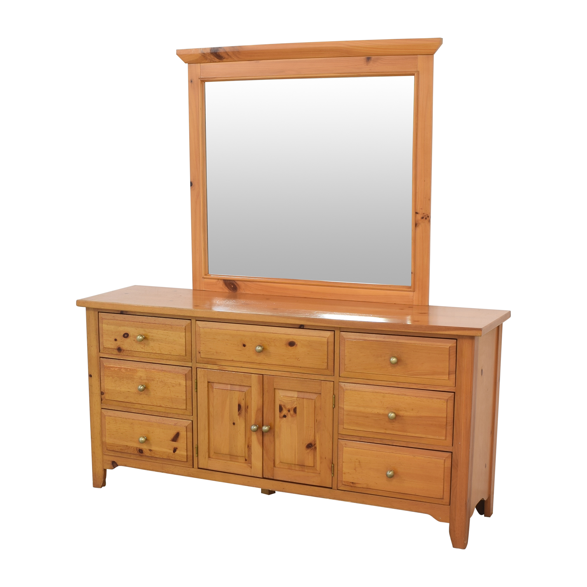 Broyhill Furniture Broyhill Shaker Style Dresser and Mirror second hand