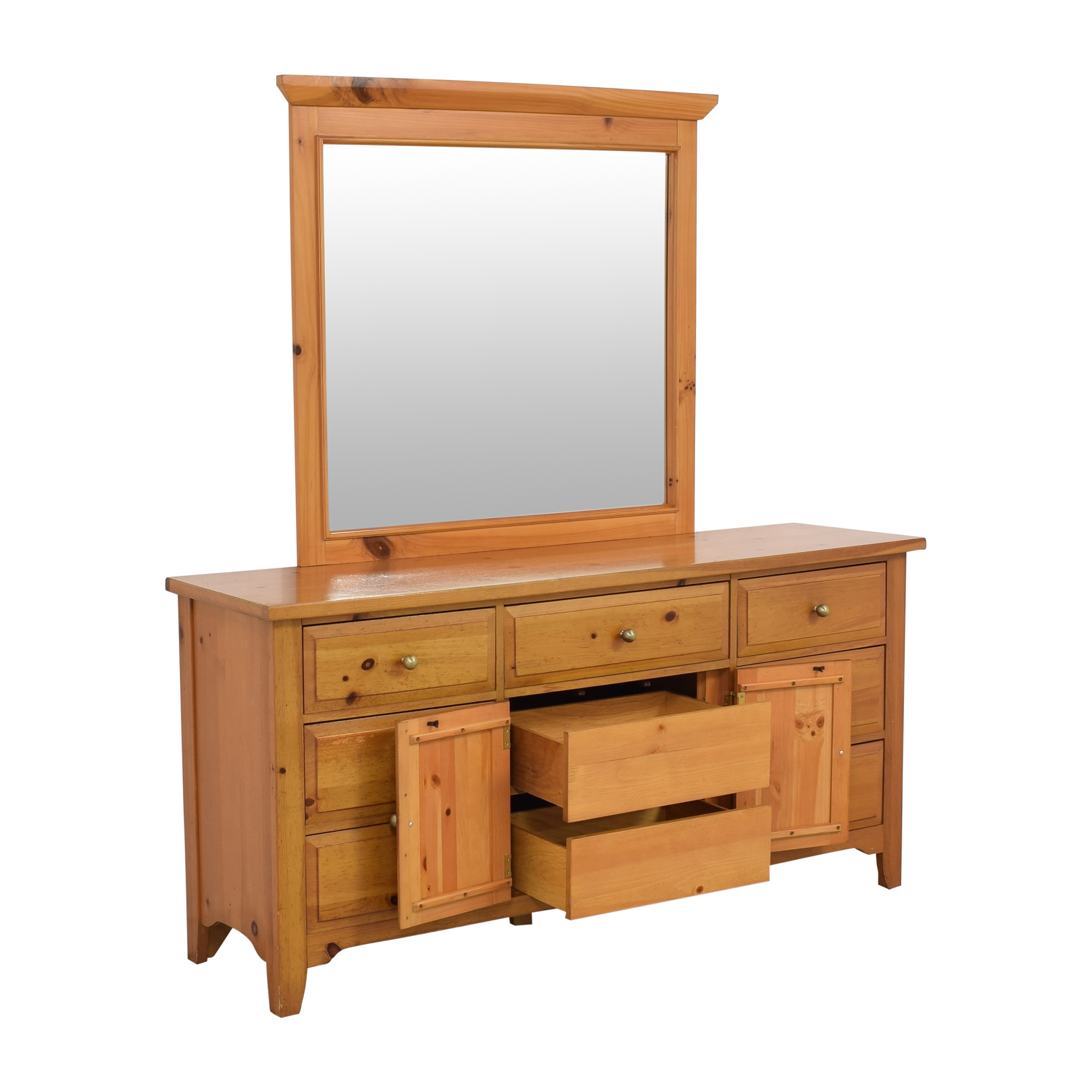 Broyhill Furniture Broyhill Shaker Style Dresser and Mirror