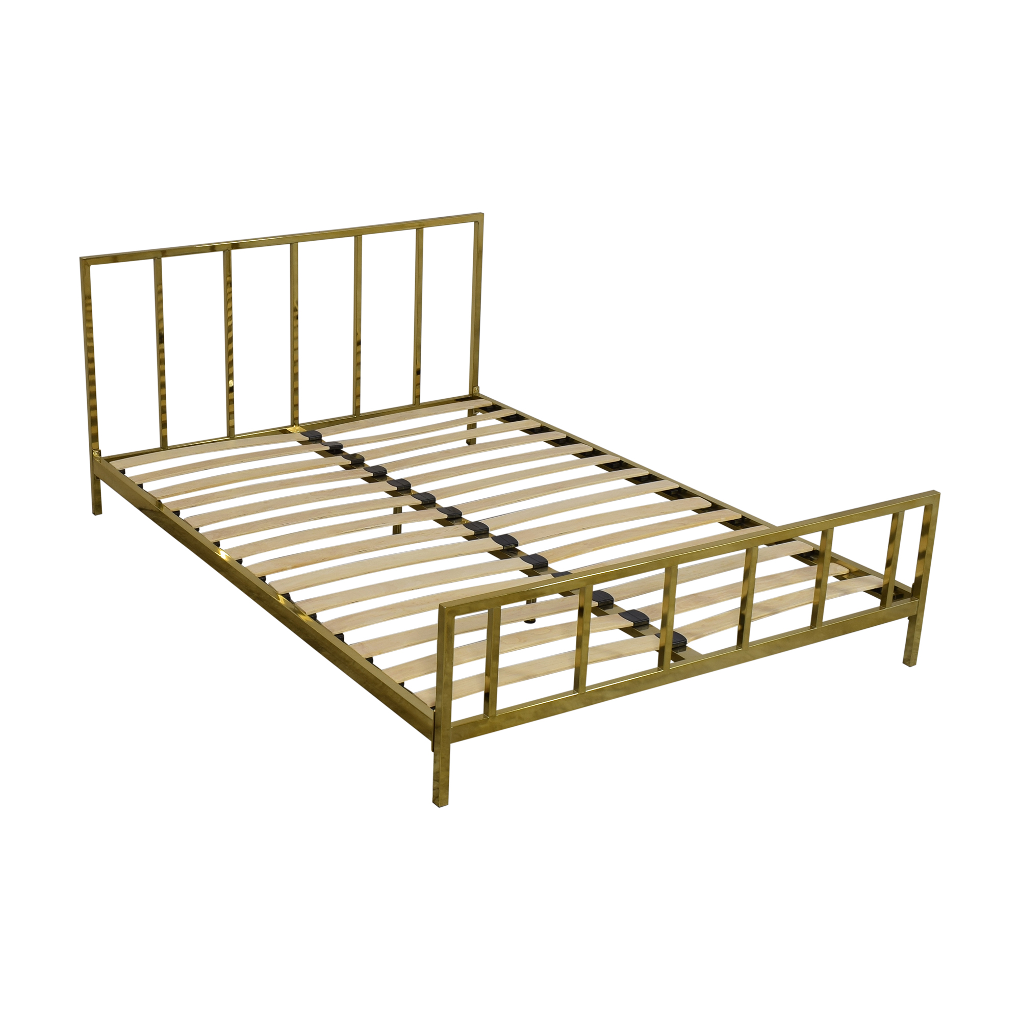 CB2 CB2 Alchemy Full Bronze Bed nyc