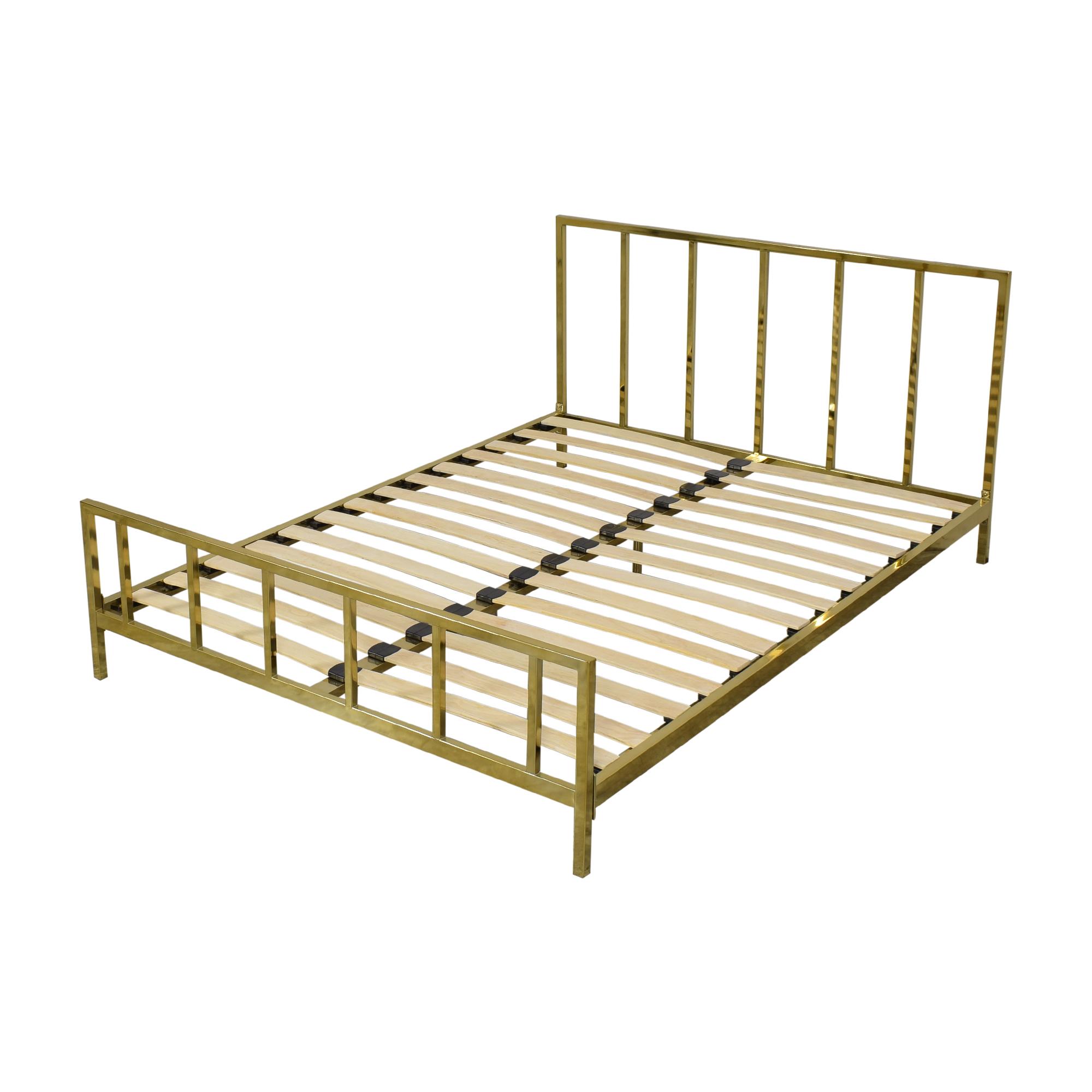 buy CB2 Alchemy Full Bronze Bed CB2 Bed Frames