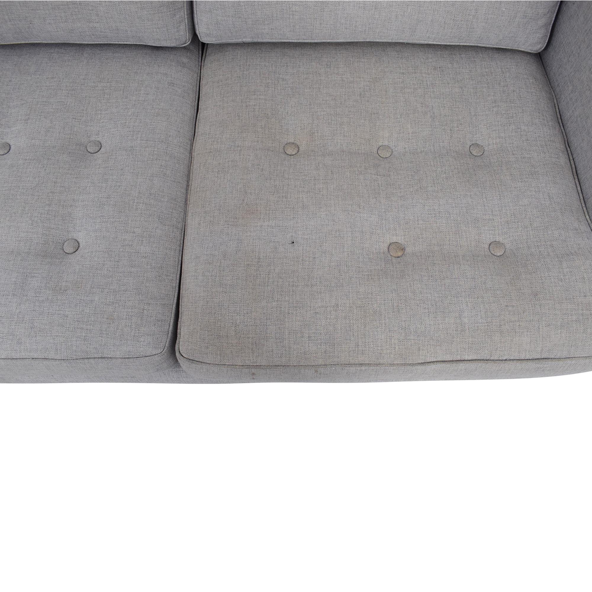 West Elm West Elm Peggy Mid-Century Chaise Sectional Sofa nj