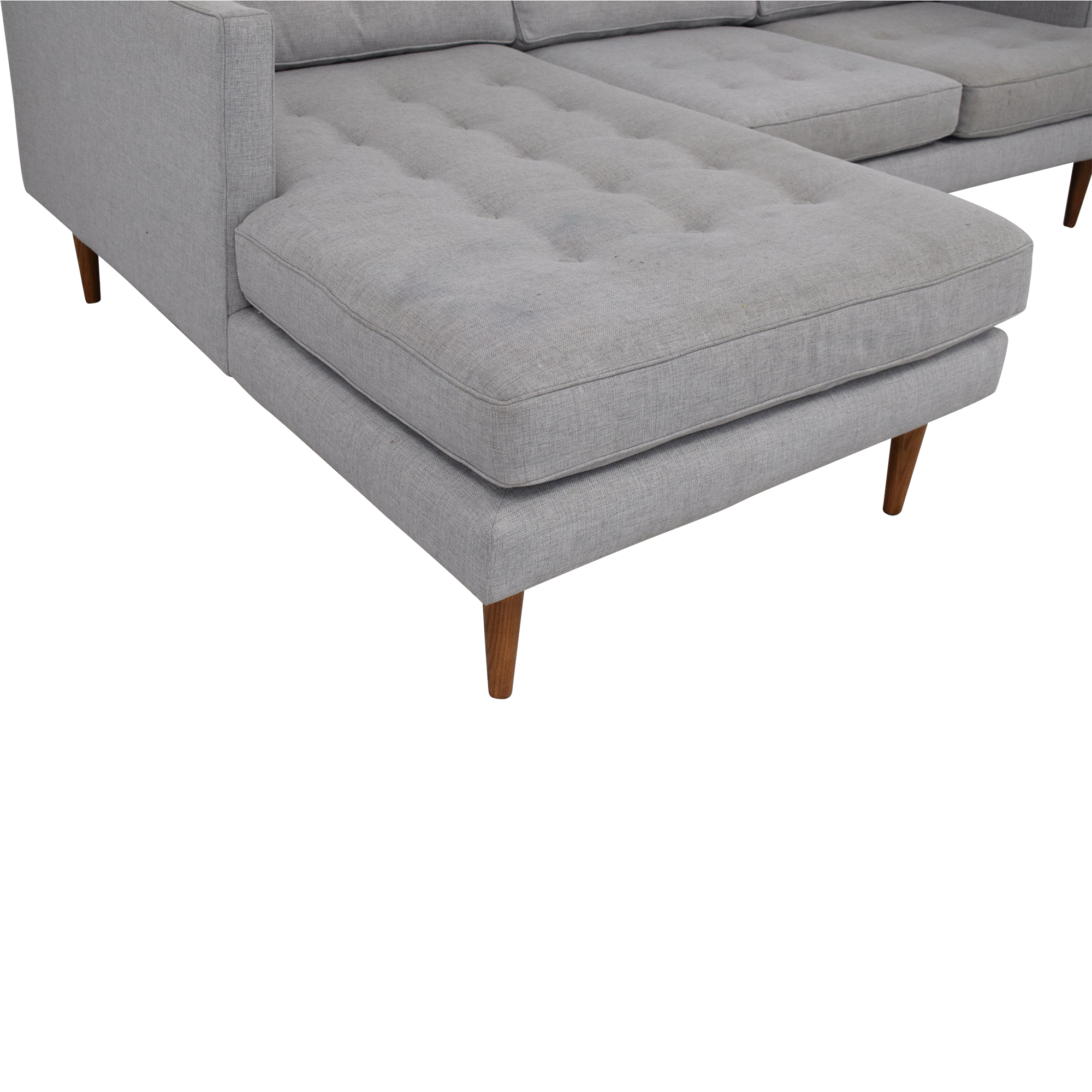 West Elm West Elm Peggy Mid-Century Chaise Sectional Sofa discount