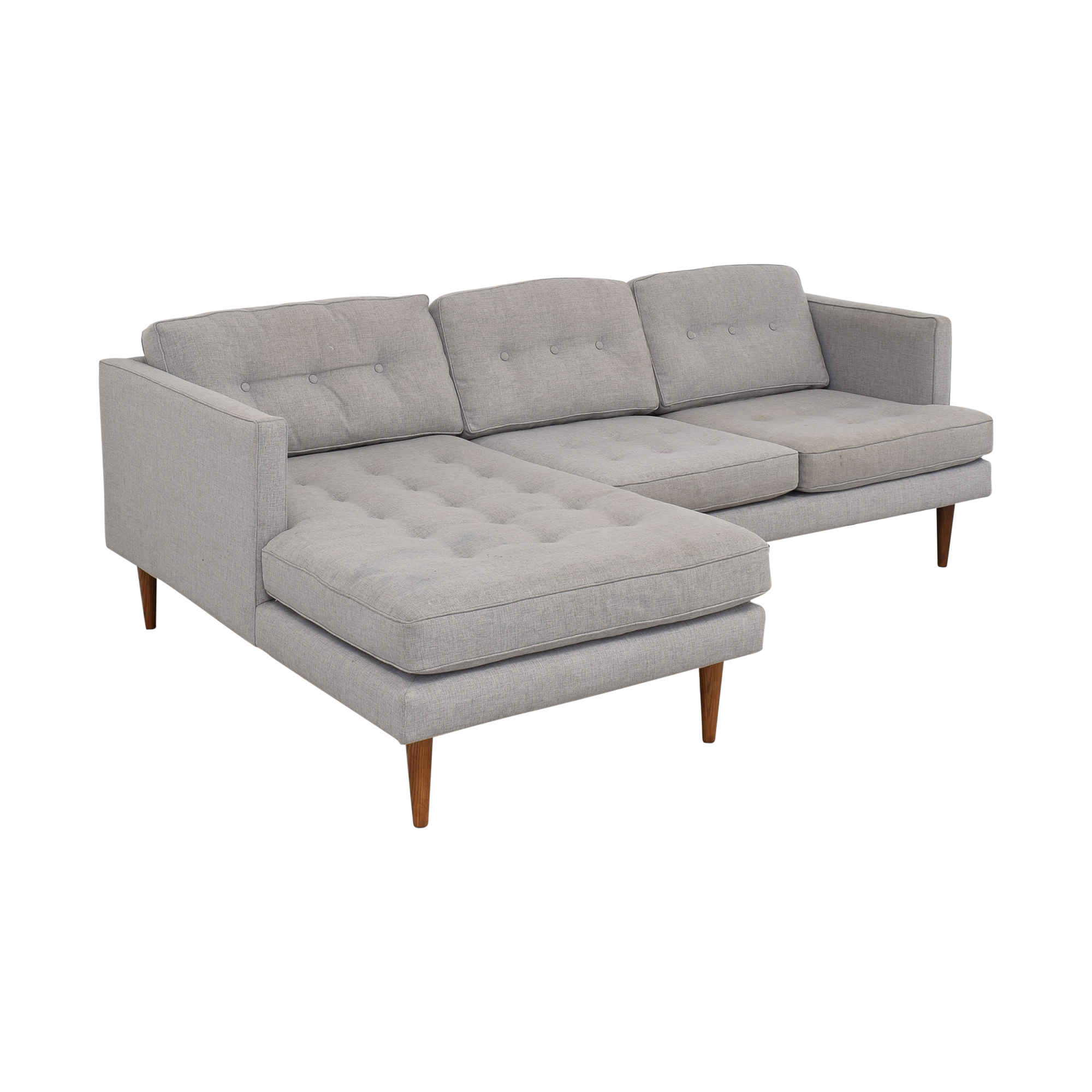 West Elm West Elm Peggy Mid-Century Chaise Sectional Sofa ma