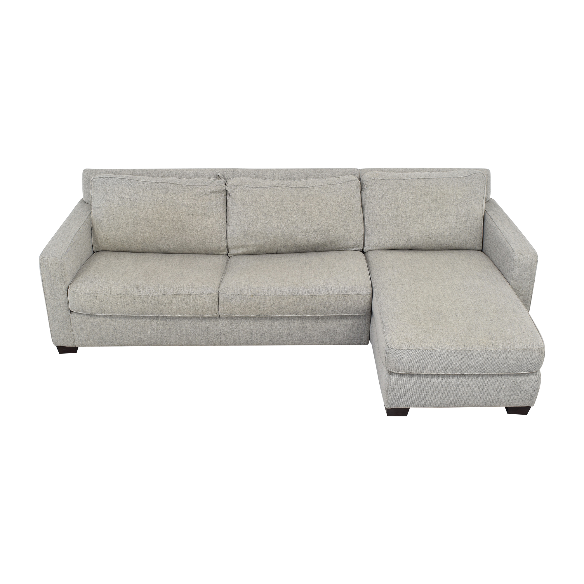 West Elm West Elm Henry Sleeper Sectional with Storage Chaise on sale