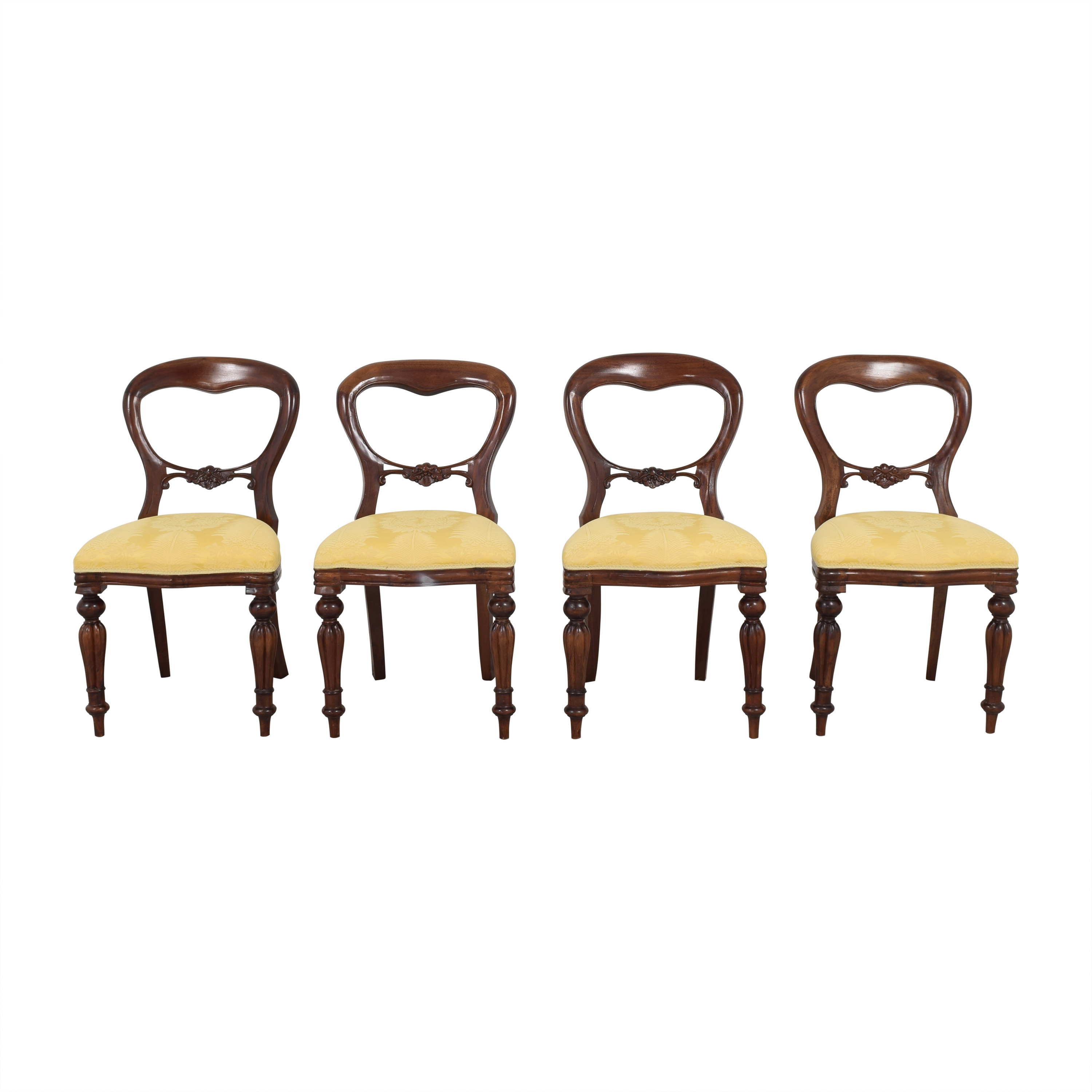 Victorian Style Balloon Back Dining Chairs / Chairs