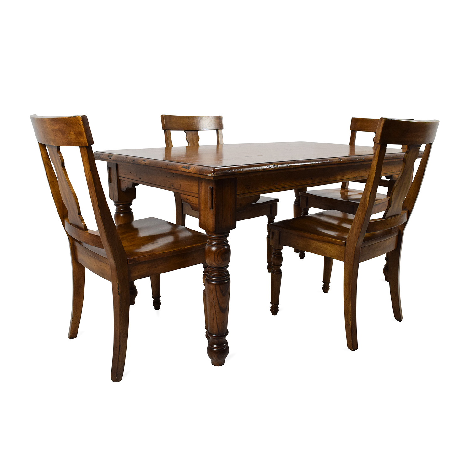 OFF Pottery Barn Pottery Barn Solid Wood Dining Set Tables - Pottery barn black dining table