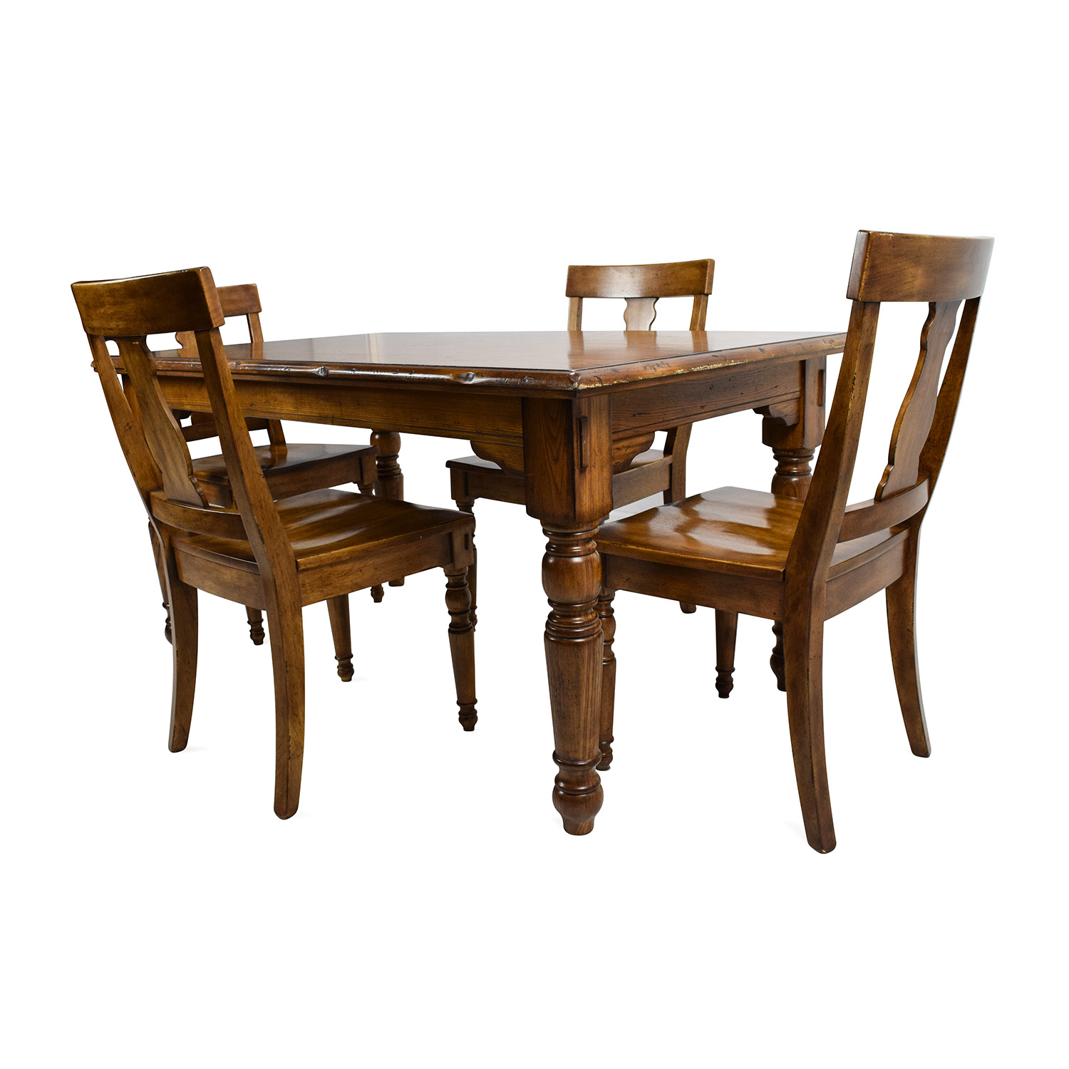 Pottery Barn Solid Wood Dining Set sale