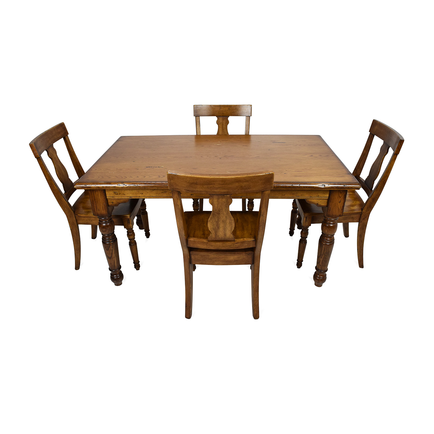 85% OFF - Pottery Barn Pottery Barn Solid Wood Dining Set / Tables