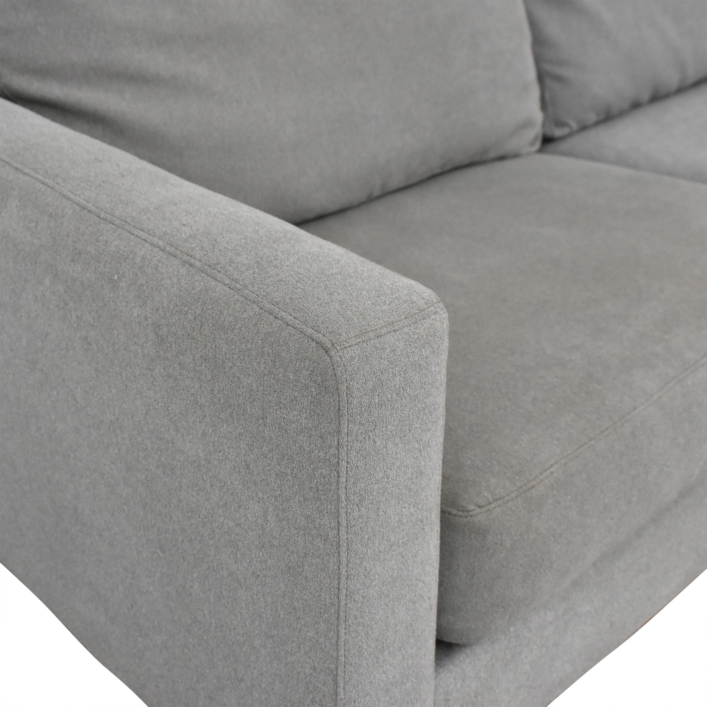 shop Raymour & Flanigan Modern Grey Sectional Couch Raymour & Flanigan Sectionals