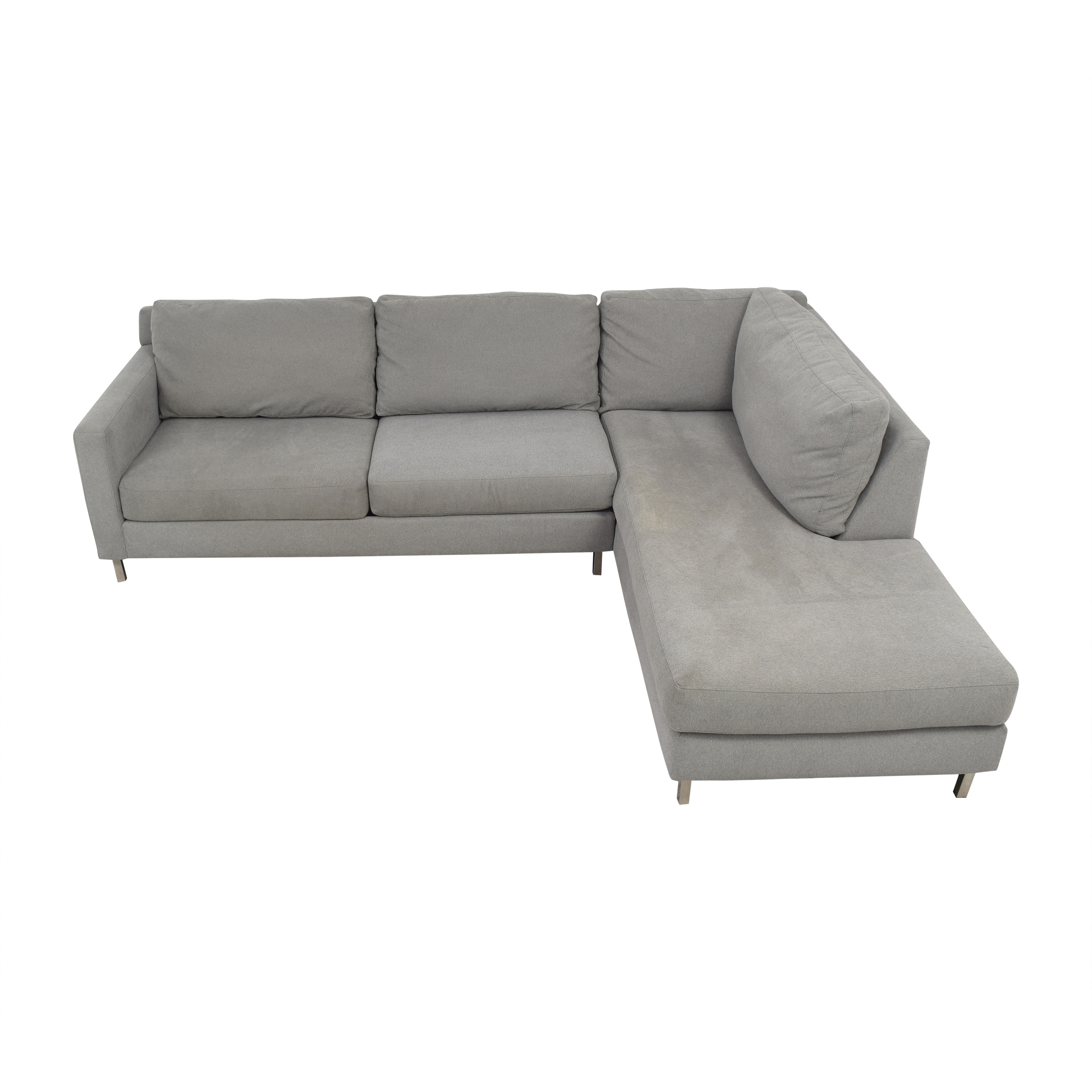 Raymour & Flanigan Raymour & Flanigan Modern Grey Sectional Couch nj