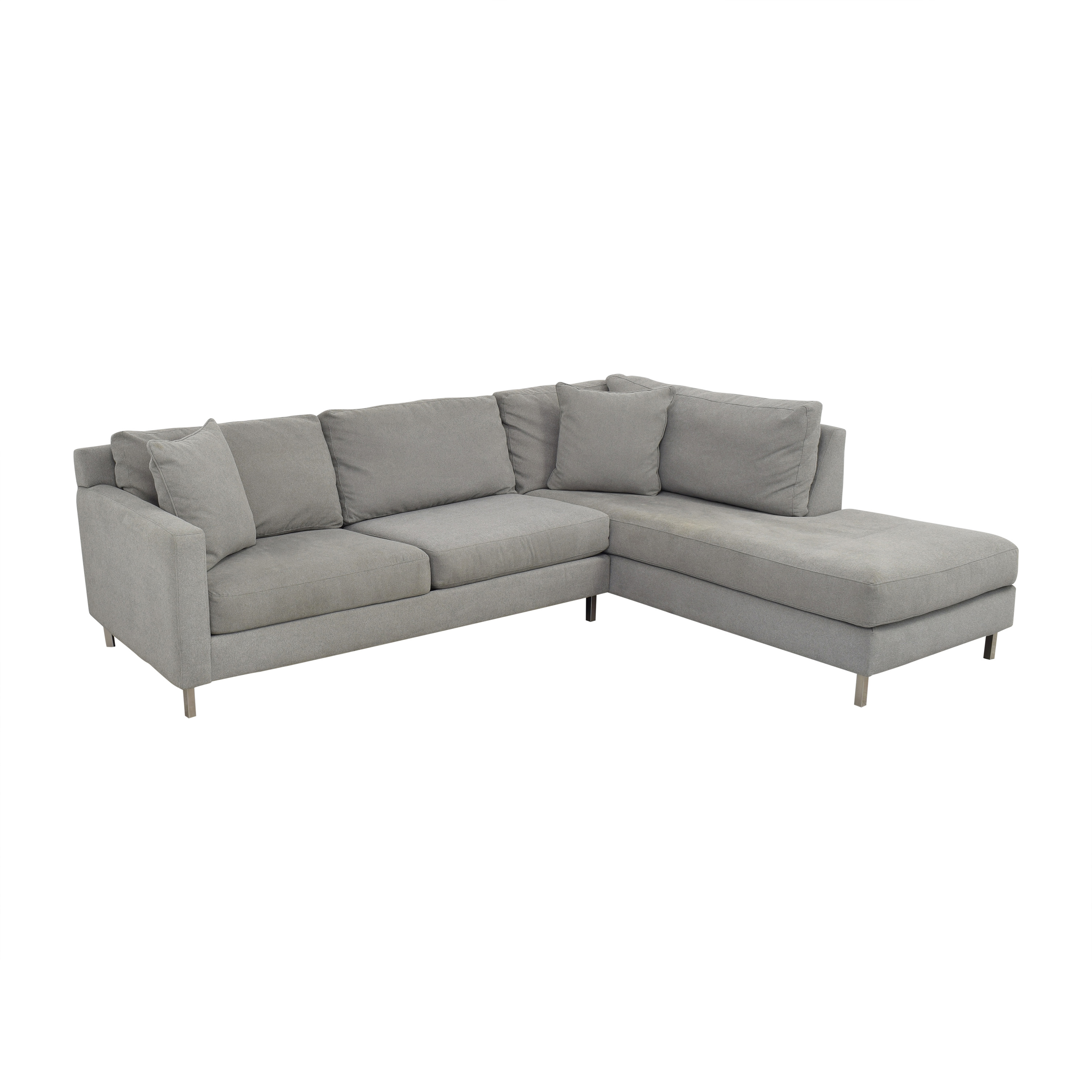 Raymour & Flanigan Raymour & Flanigan Modern Grey Sectional Couch second hand