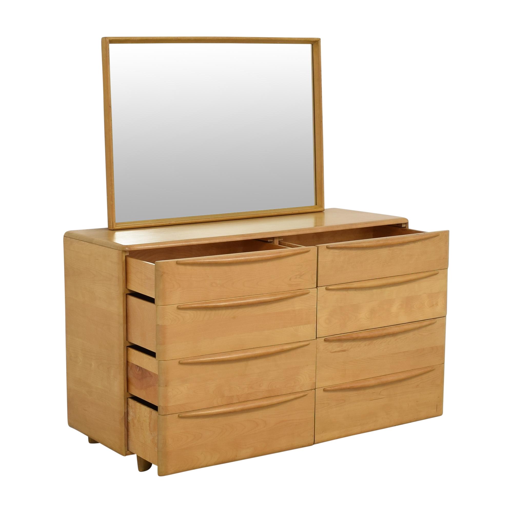Heywood-Wakefield Heywood-Wakefield Encore Eight Drawer Dresser with Mirror nj
