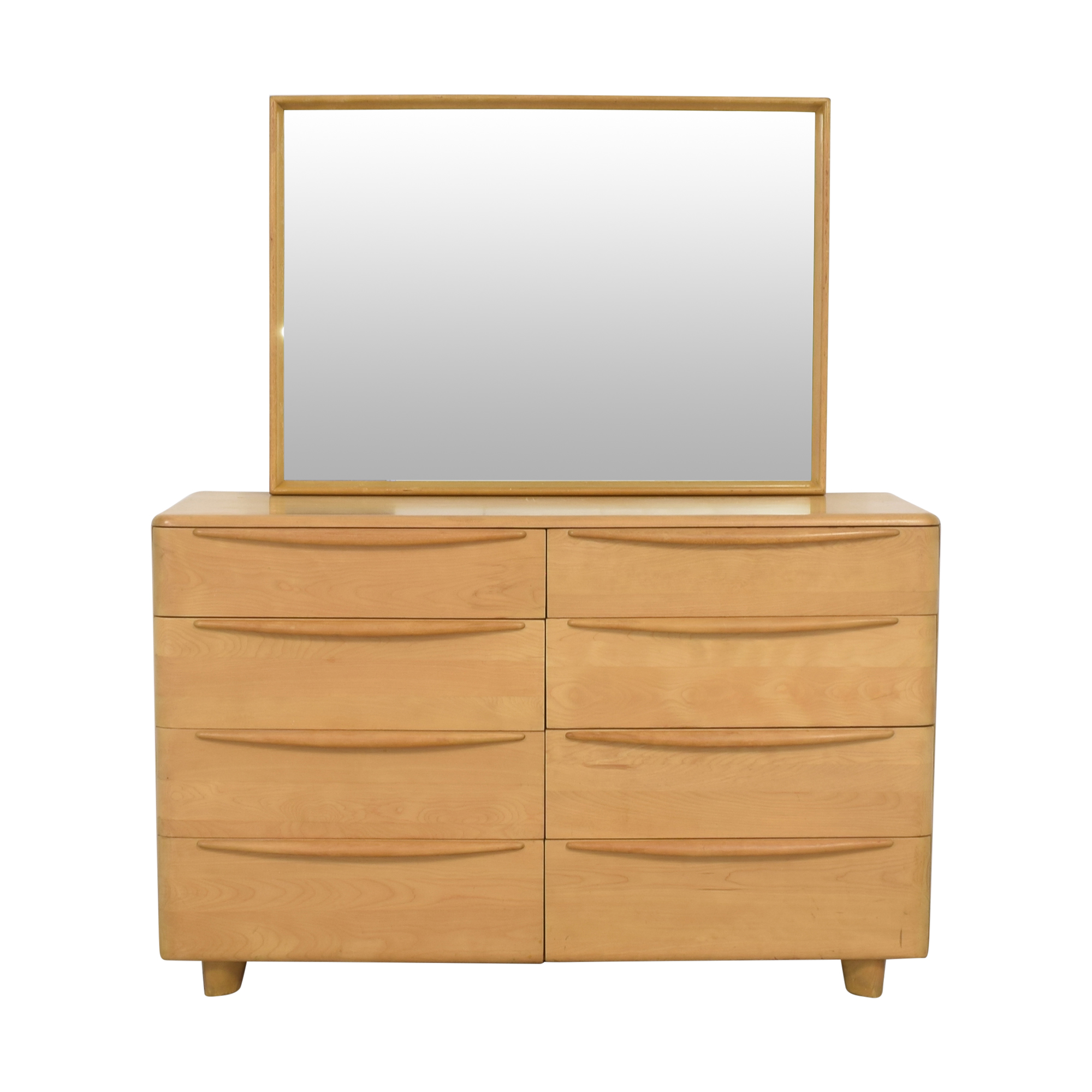 Heywood-Wakefield Encore Eight Drawer Dresser with Mirror sale