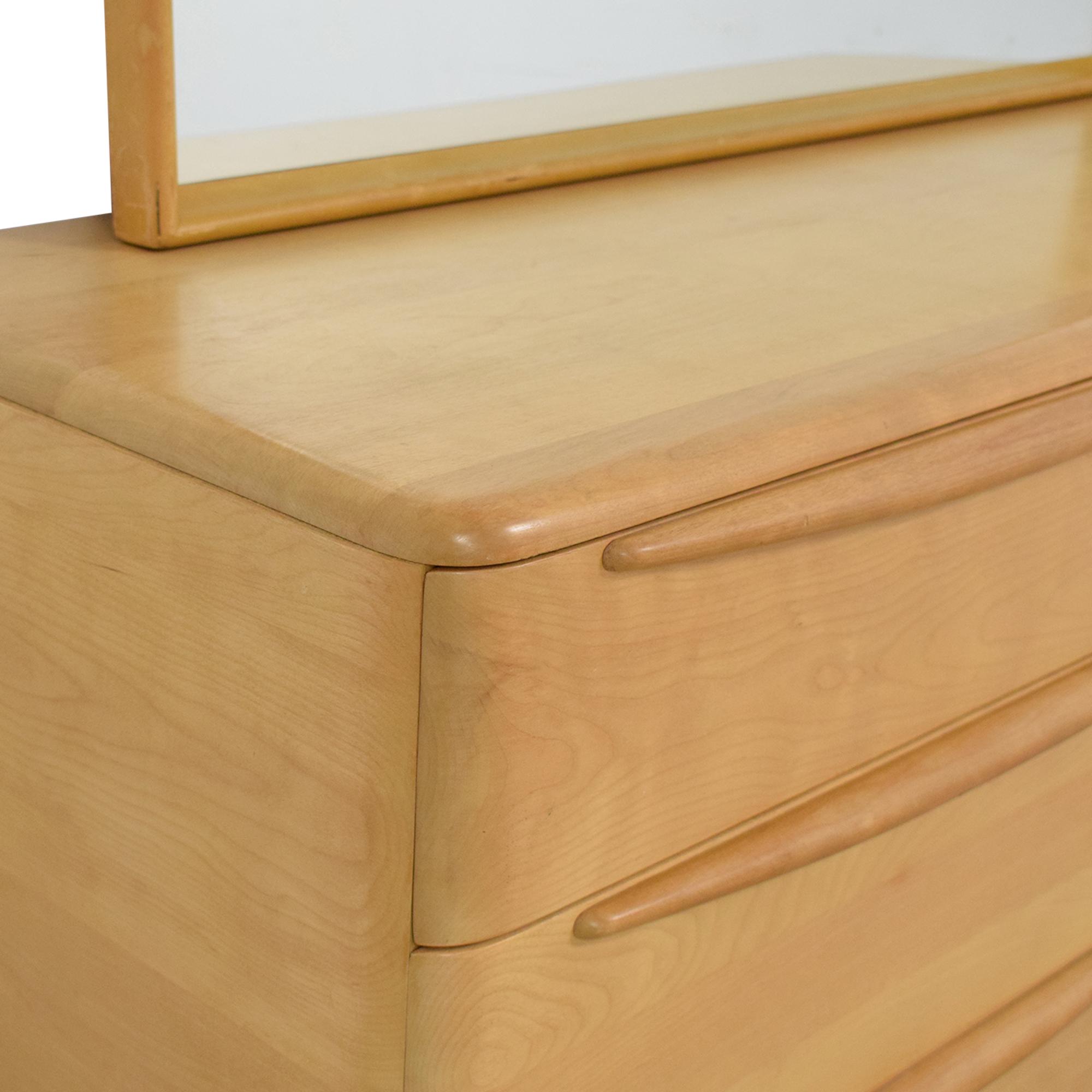 Heywood-Wakefield Encore Eight Drawer Dresser with Mirror Heywood-Wakefield