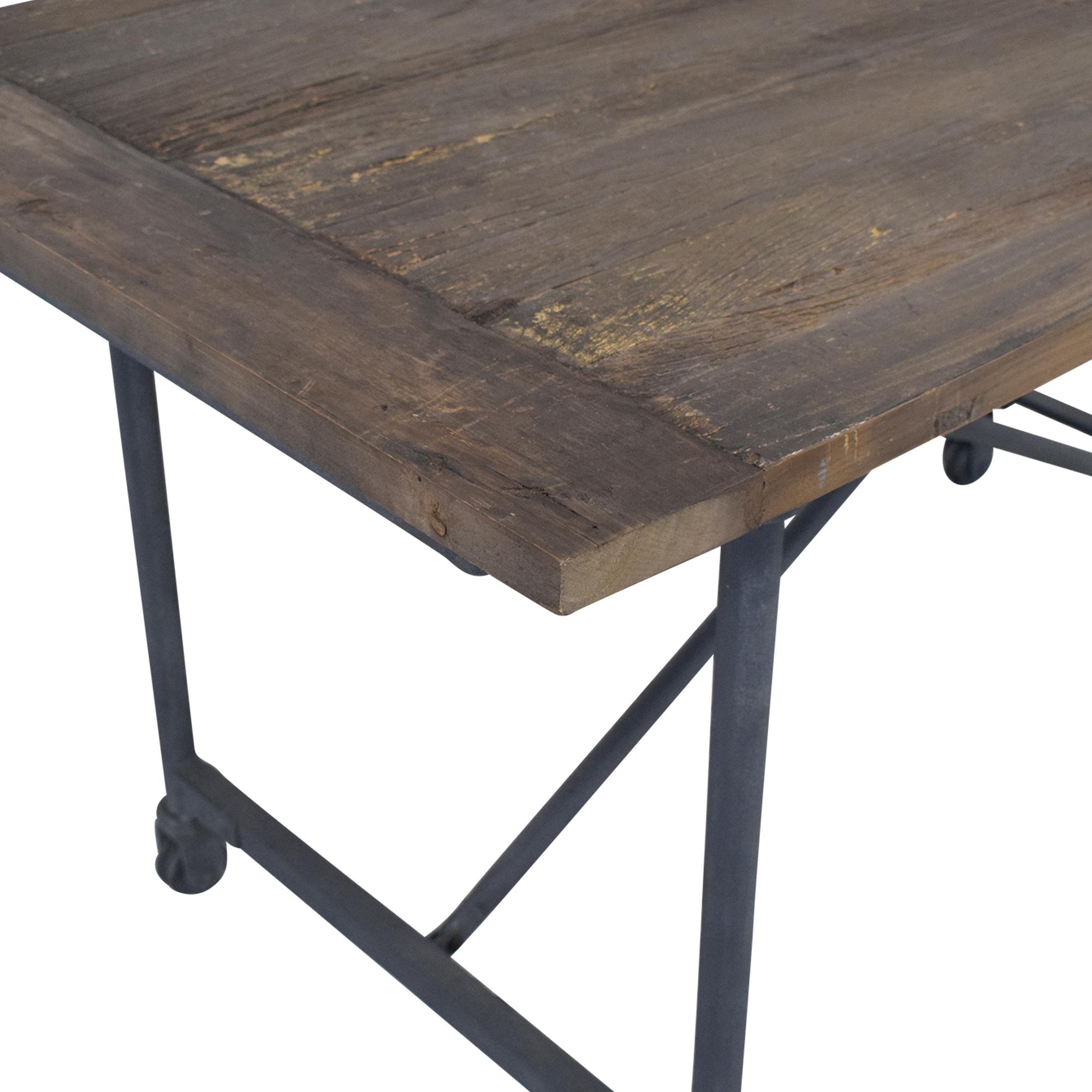 Restoration Hardware Restoration Hardware Flatiron Desk Reclaimed Natural Elm Zinc Metal price