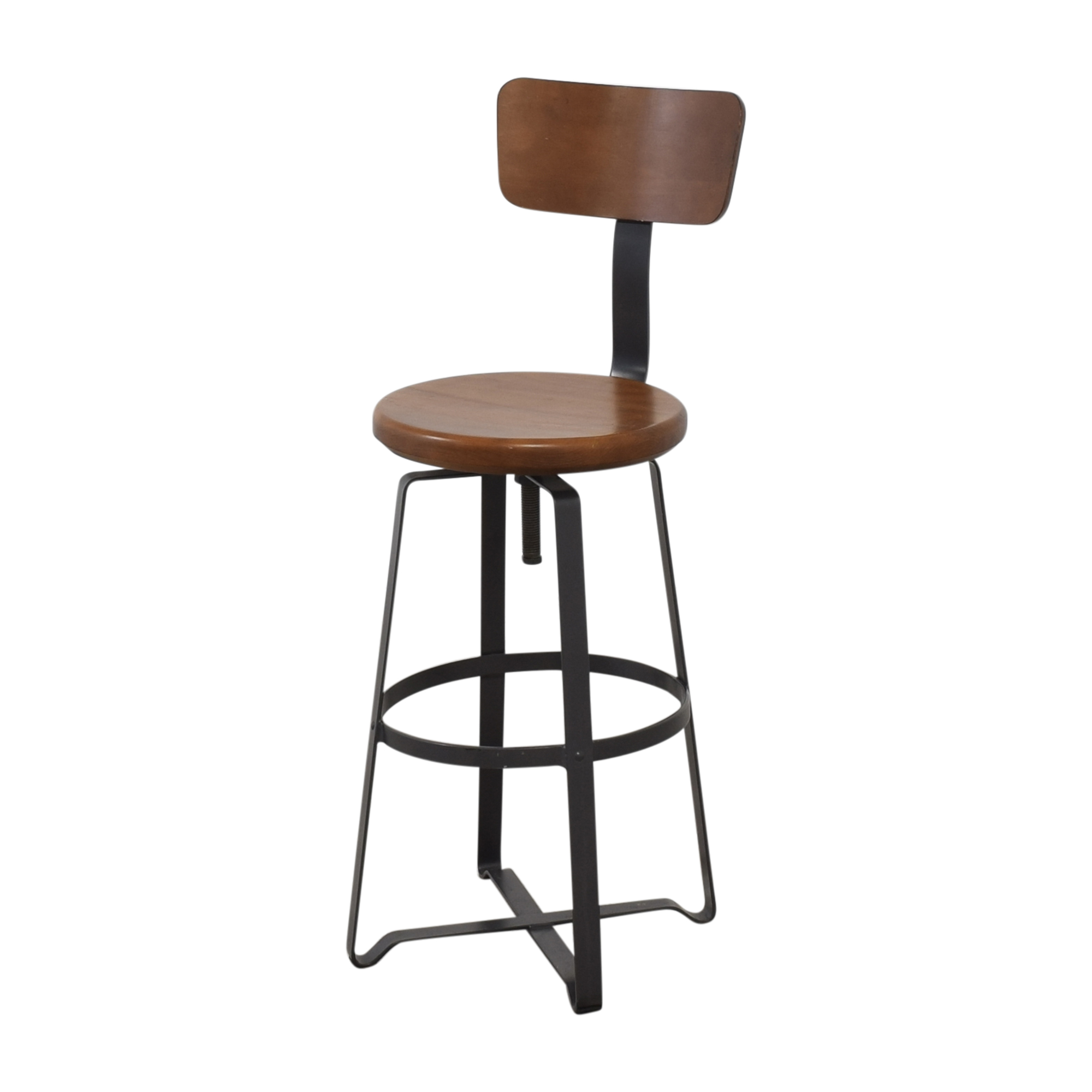 West Elm West Elm Adjustable Industrial Stool with Back nj