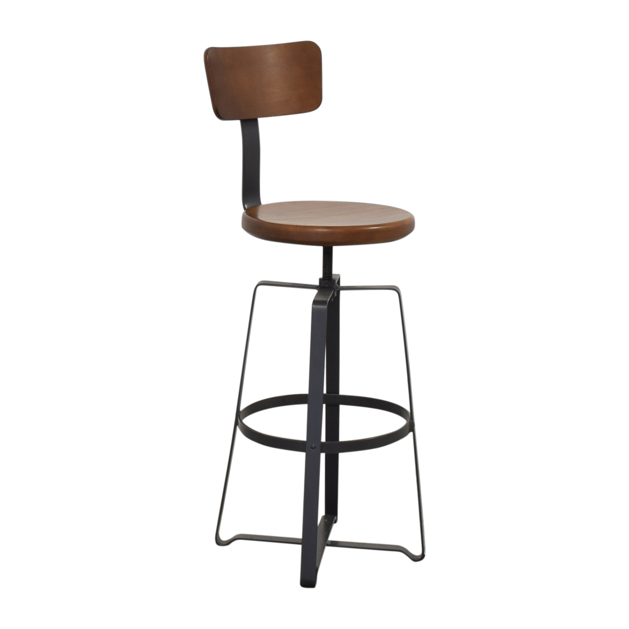 shop West Elm Adjustable Industrial Stool with Back West Elm Chairs