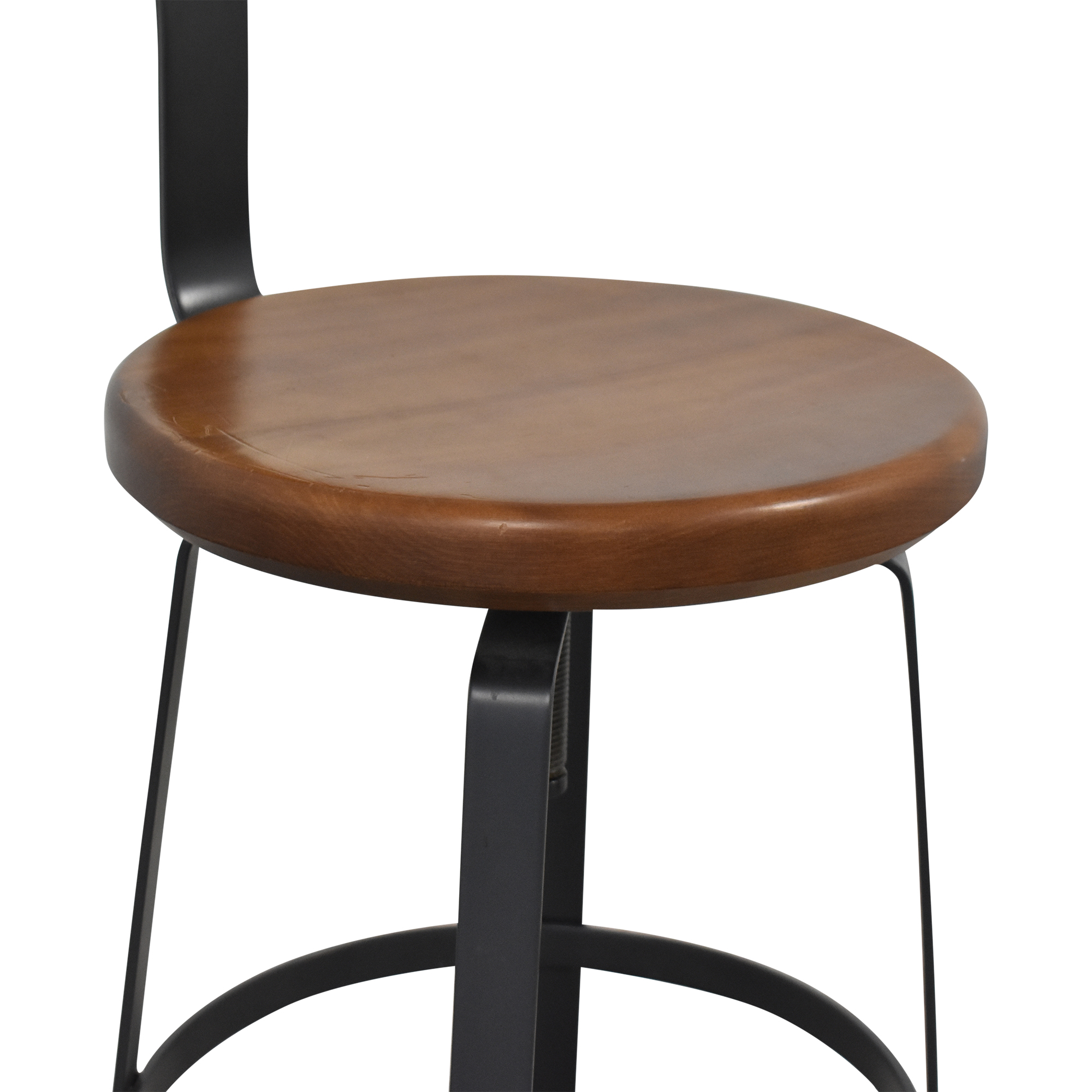 buy West Elm Adjustable Industrial Stool with Back West Elm Stools