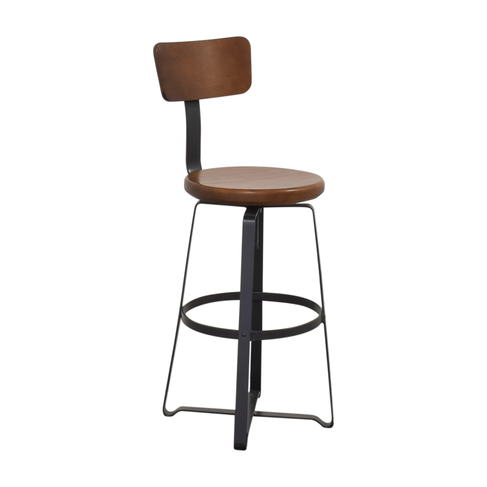 West Elm West Elm Adjustable Industrial Stool with Back on sale