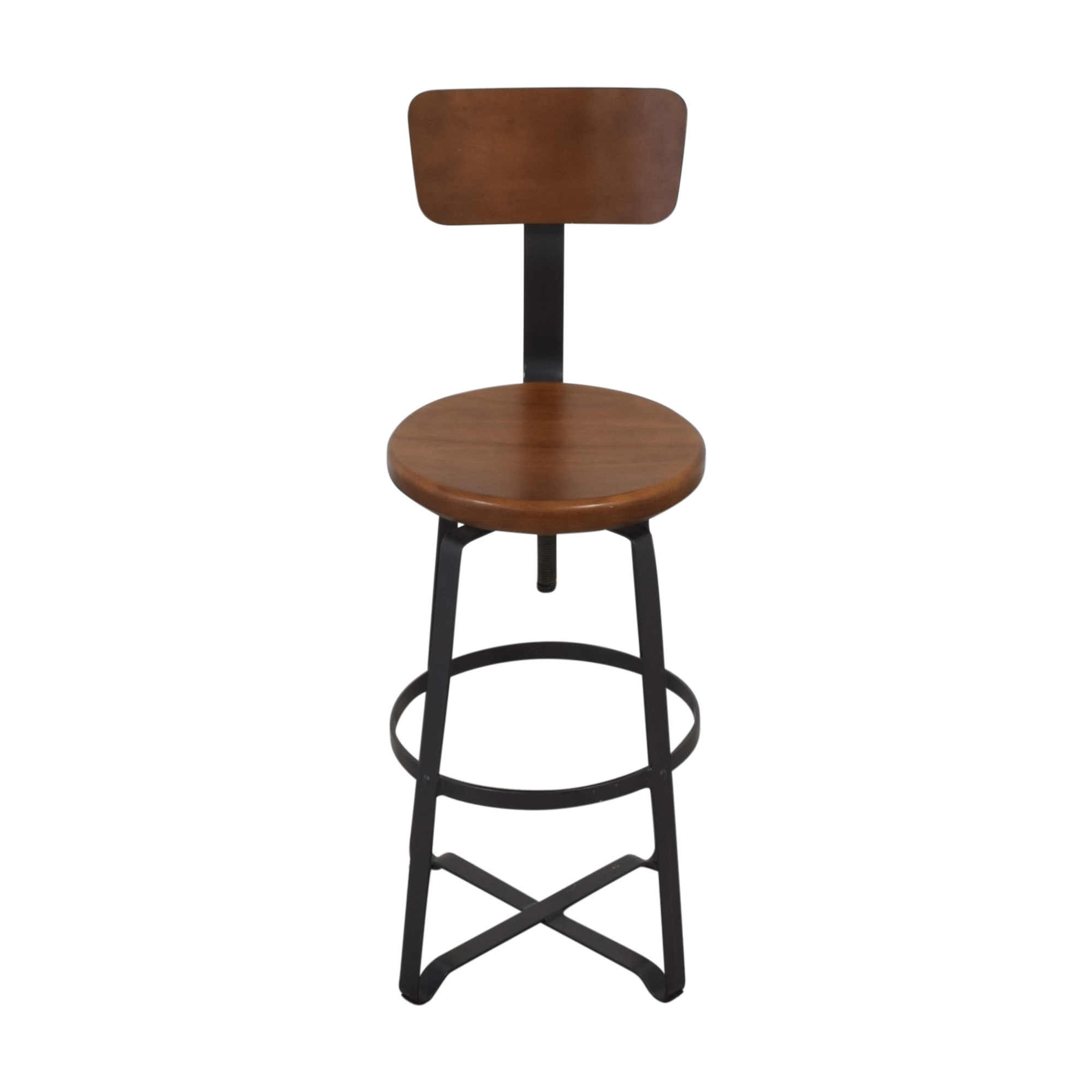 West Elm West Elm Adjustable Industrial Stool with Back pa