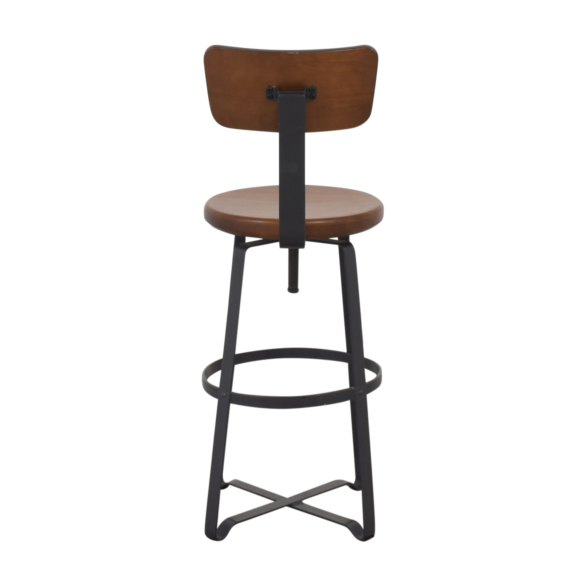 West Elm West Elm Adjustable Industrial Stool with Back ct