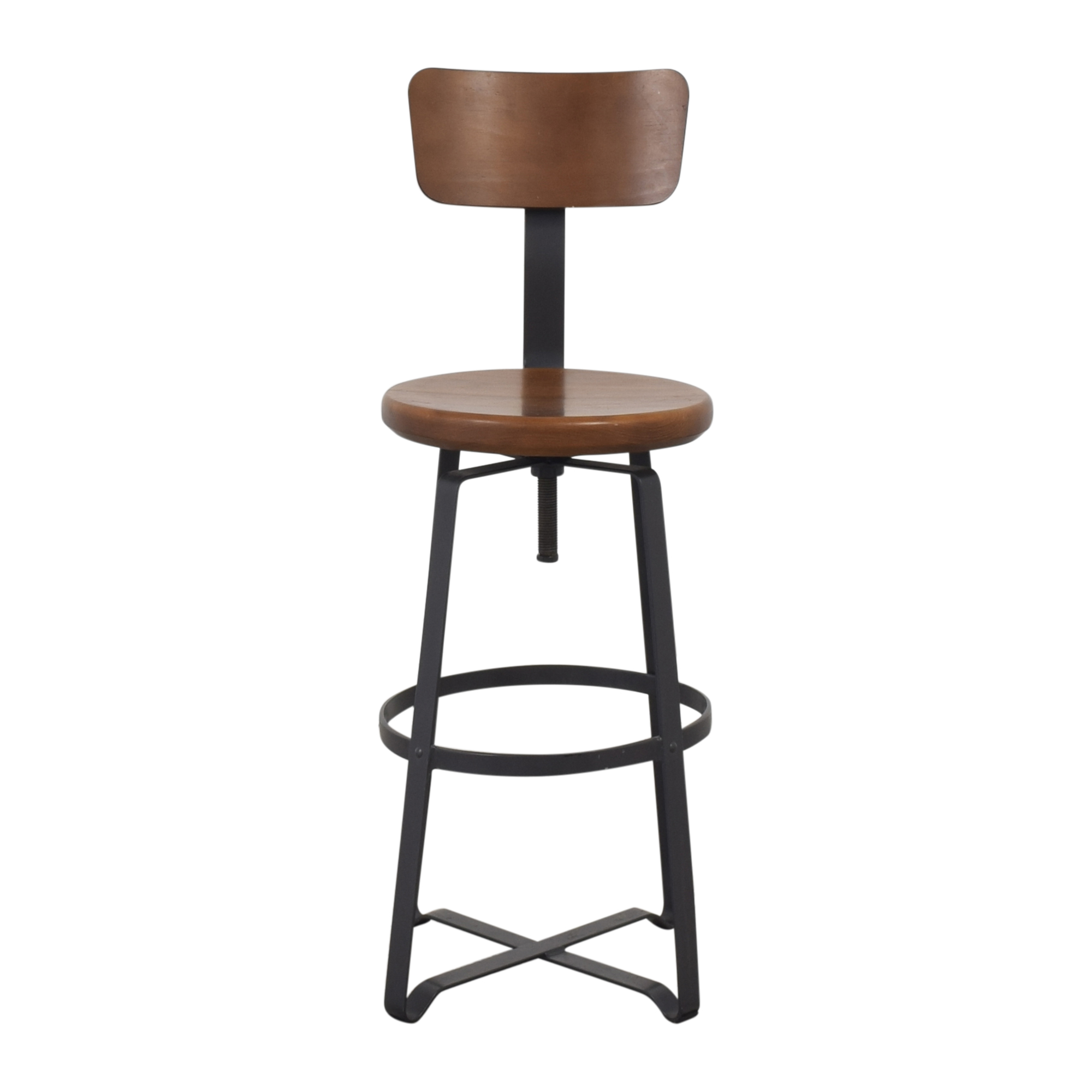West Elm Adjustable Industrial Stool with Back / Stools