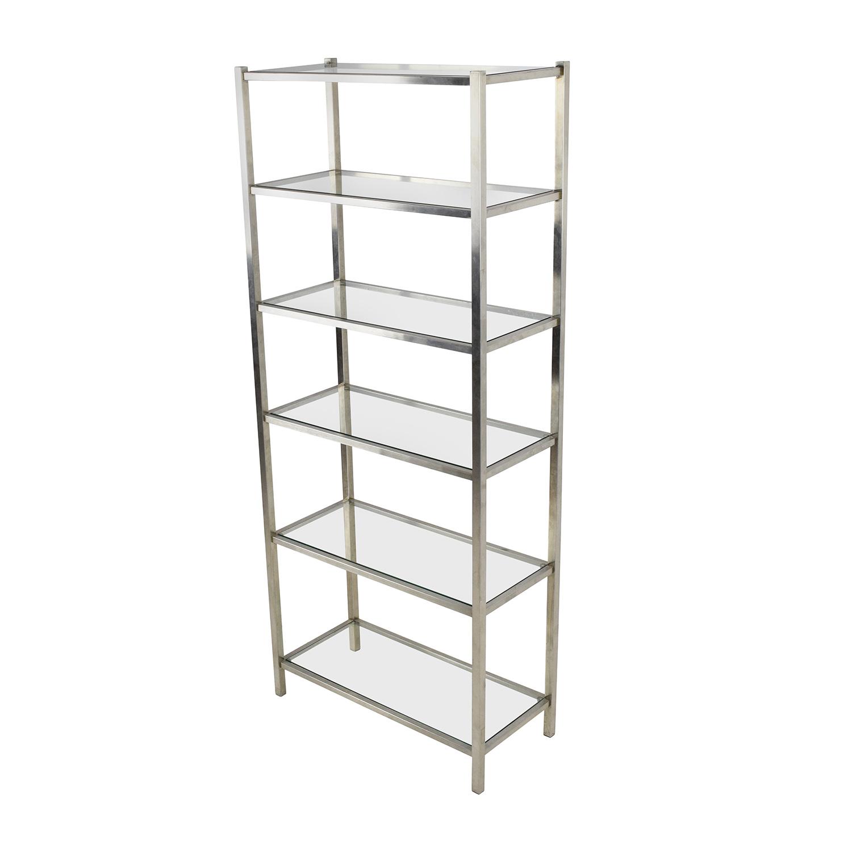 Room and Board Glass Bookshelf sale