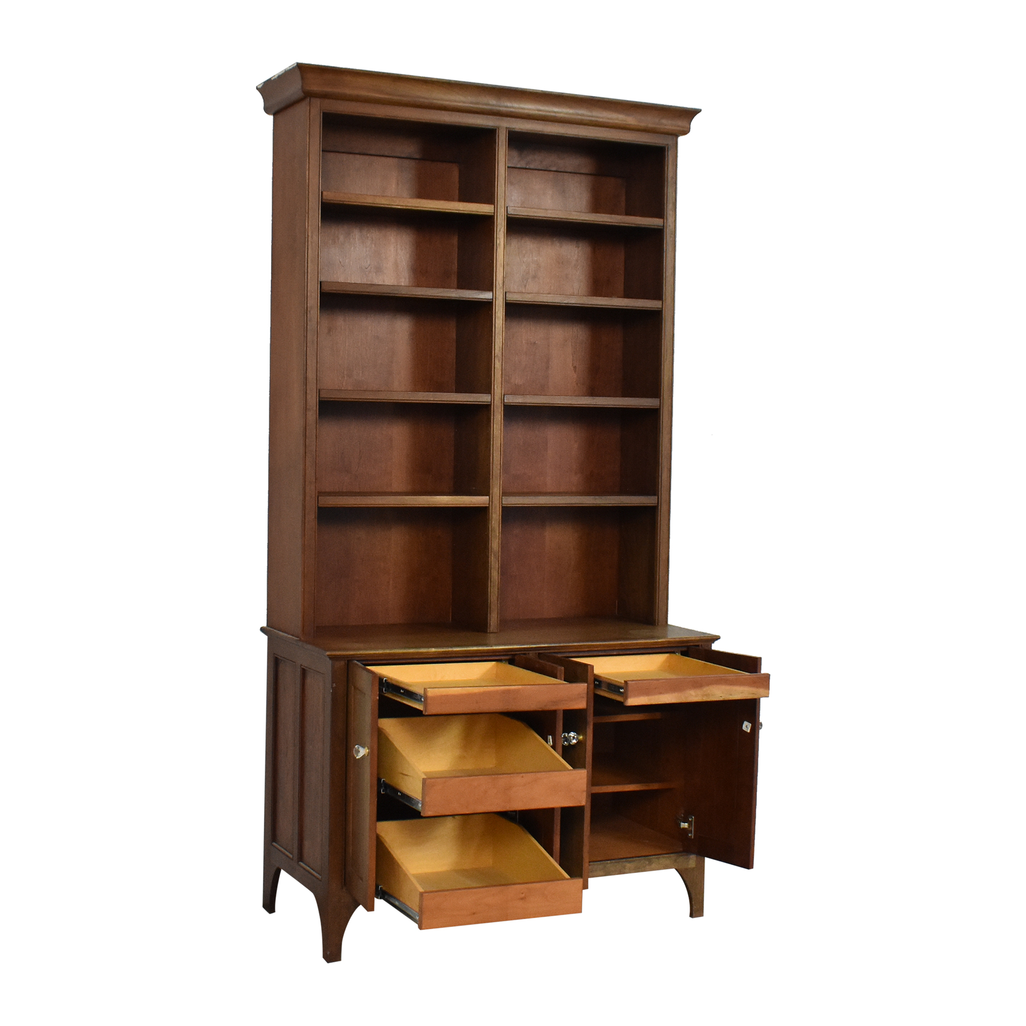 buy Vintage Cabinet with Bookshelf  Bookcases & Shelving