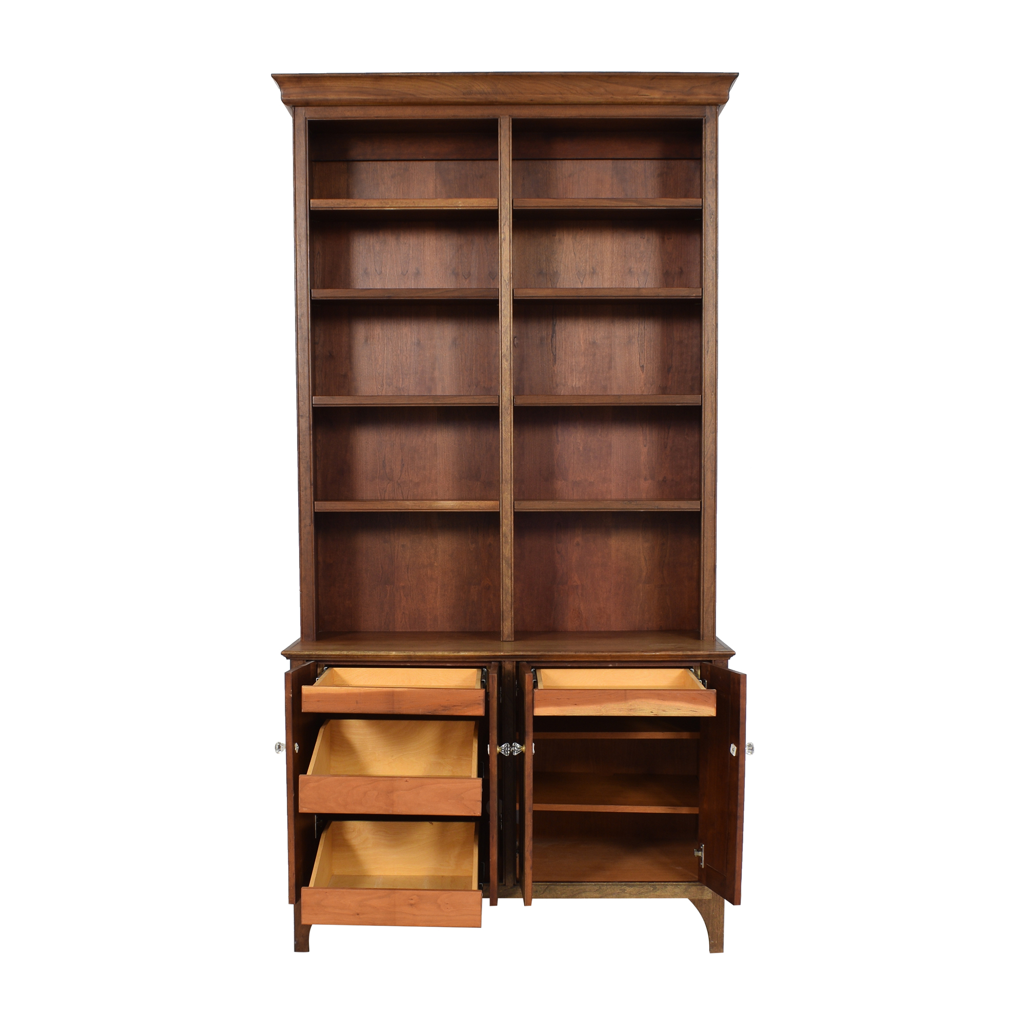 shop Vintage Cabinet with Bookshelf  Bookcases & Shelving