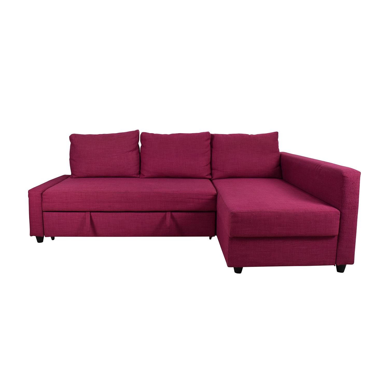 66 Off Ikea Ikea Friheten Pink Sleeper Sofa Sofas