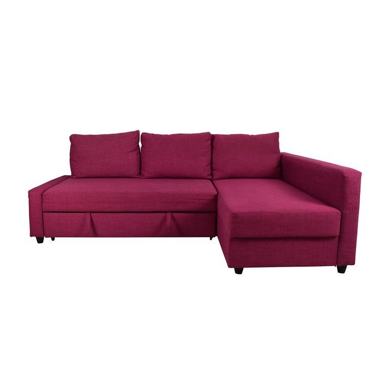 buy IKEA FRIHETEN Pink Sleeper Sofa IKEA