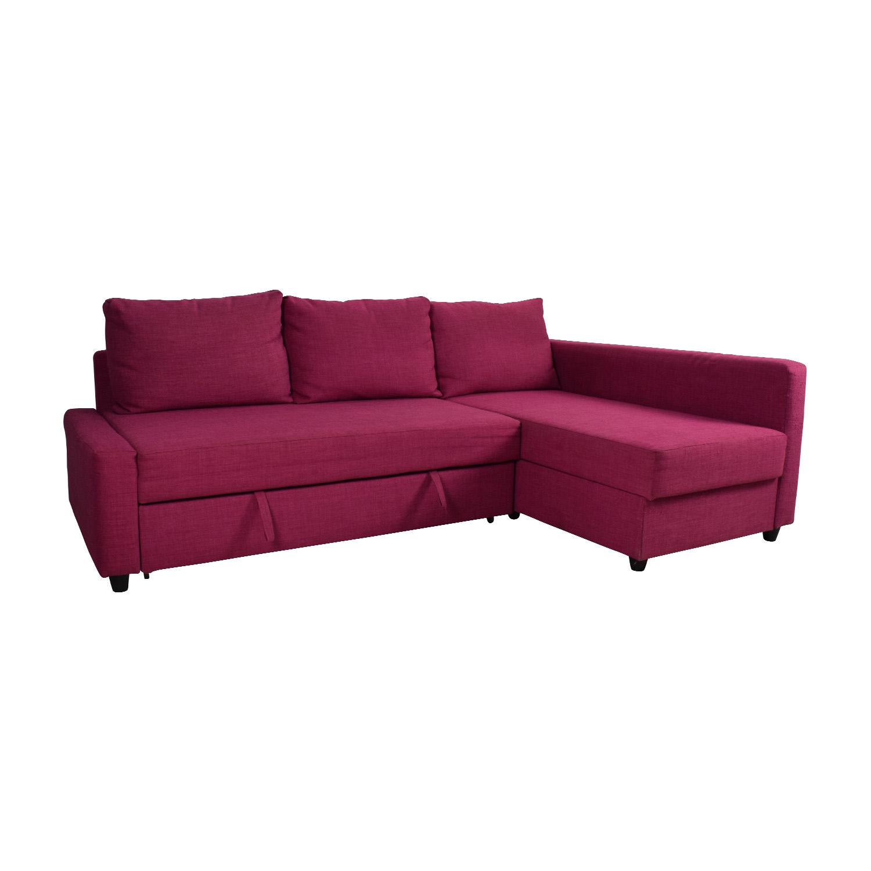 Prime 66 Off Ikea Ikea Friheten Pink Sleeper Sofa Sofas Alphanode Cool Chair Designs And Ideas Alphanodeonline