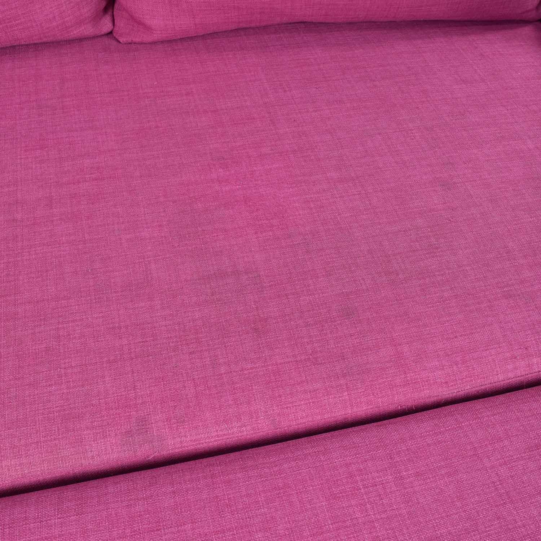 IKEA IKEA FRIHETEN Pink Sleeper Sofa dimensions