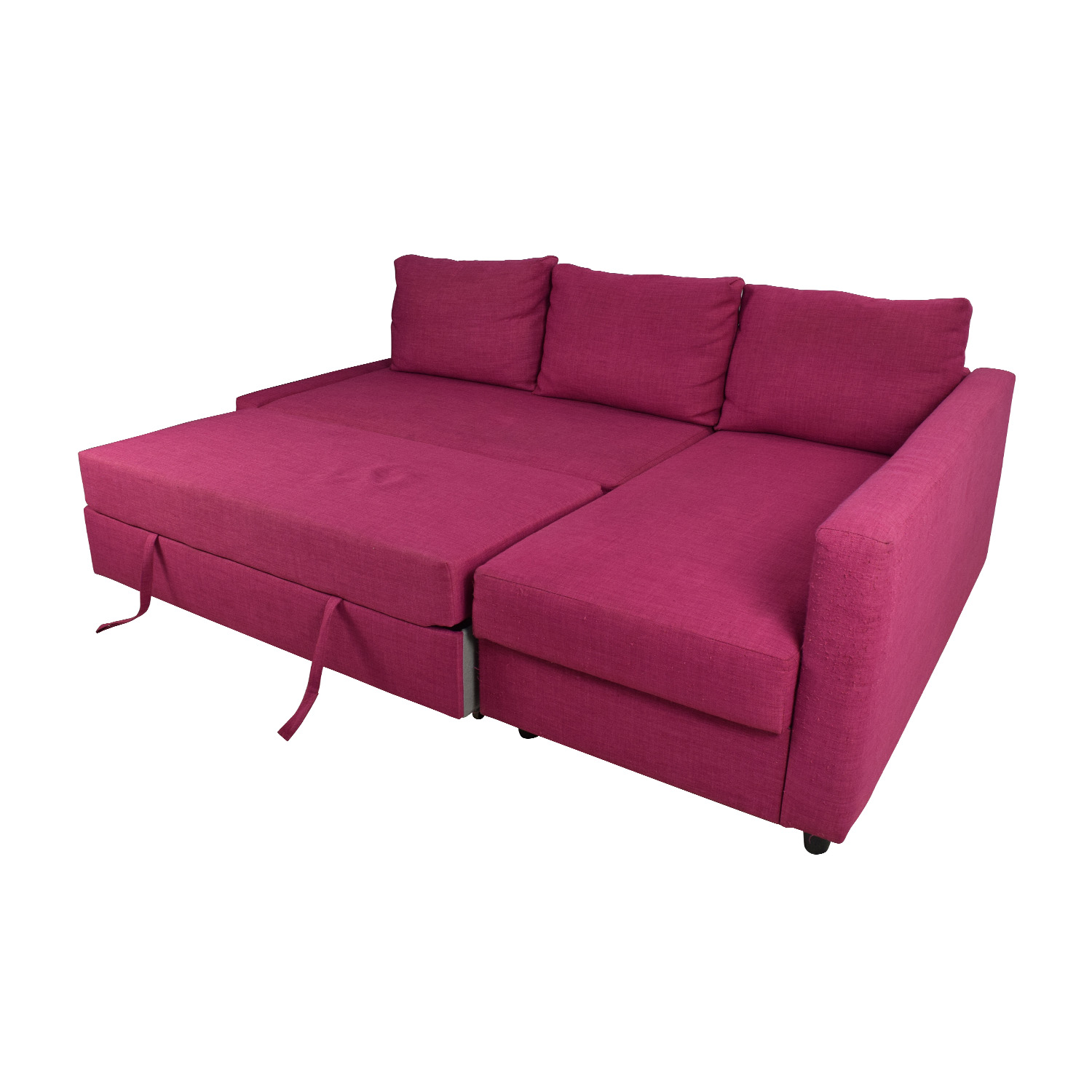 66 off ikea ikea friheten pink sleeper sofa sofas. Black Bedroom Furniture Sets. Home Design Ideas