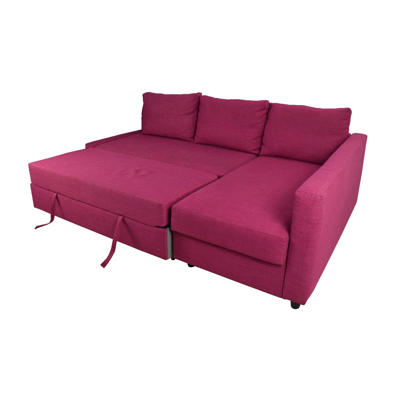 Ikea Friheten Pink Sleeper Sofa