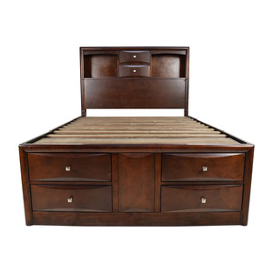 buy Roundhill Furniture Roundhill Furniture Emily Wooden Full Size Storage Bed online
