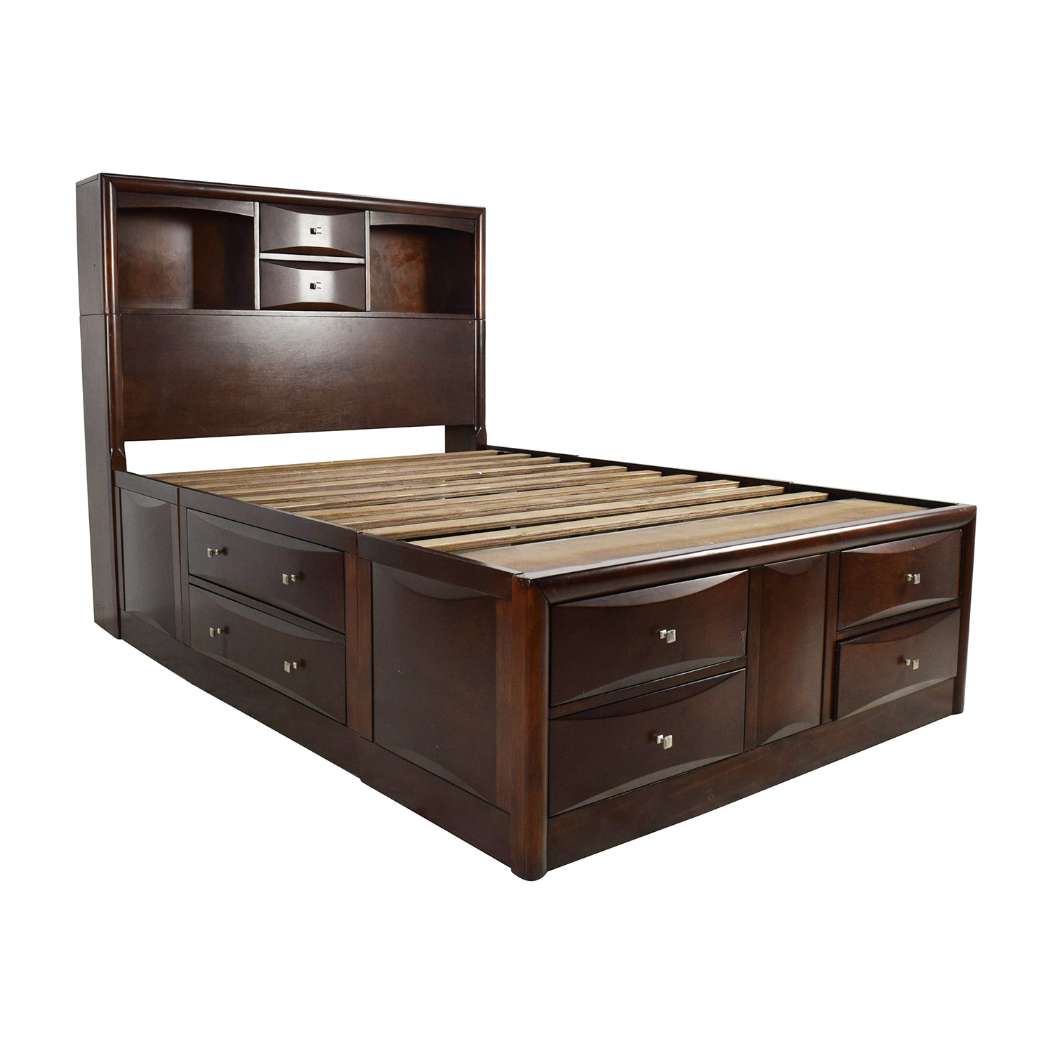 56 off roundhill furniture roundhill furniture emily wooden full size storage bed beds. Black Bedroom Furniture Sets. Home Design Ideas