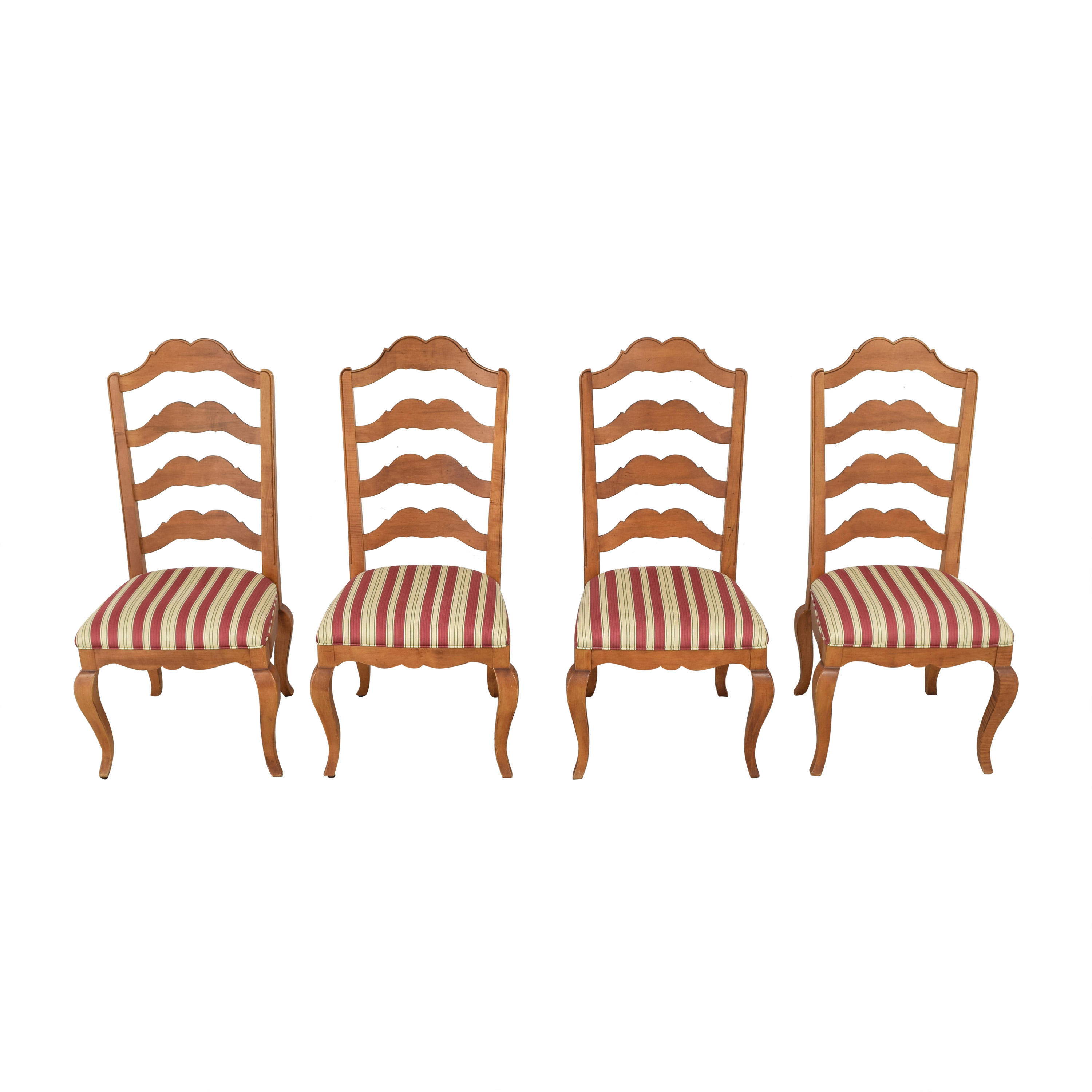 Ethan Allen Ethan Allen Upholstered Dining Chairs brown & red