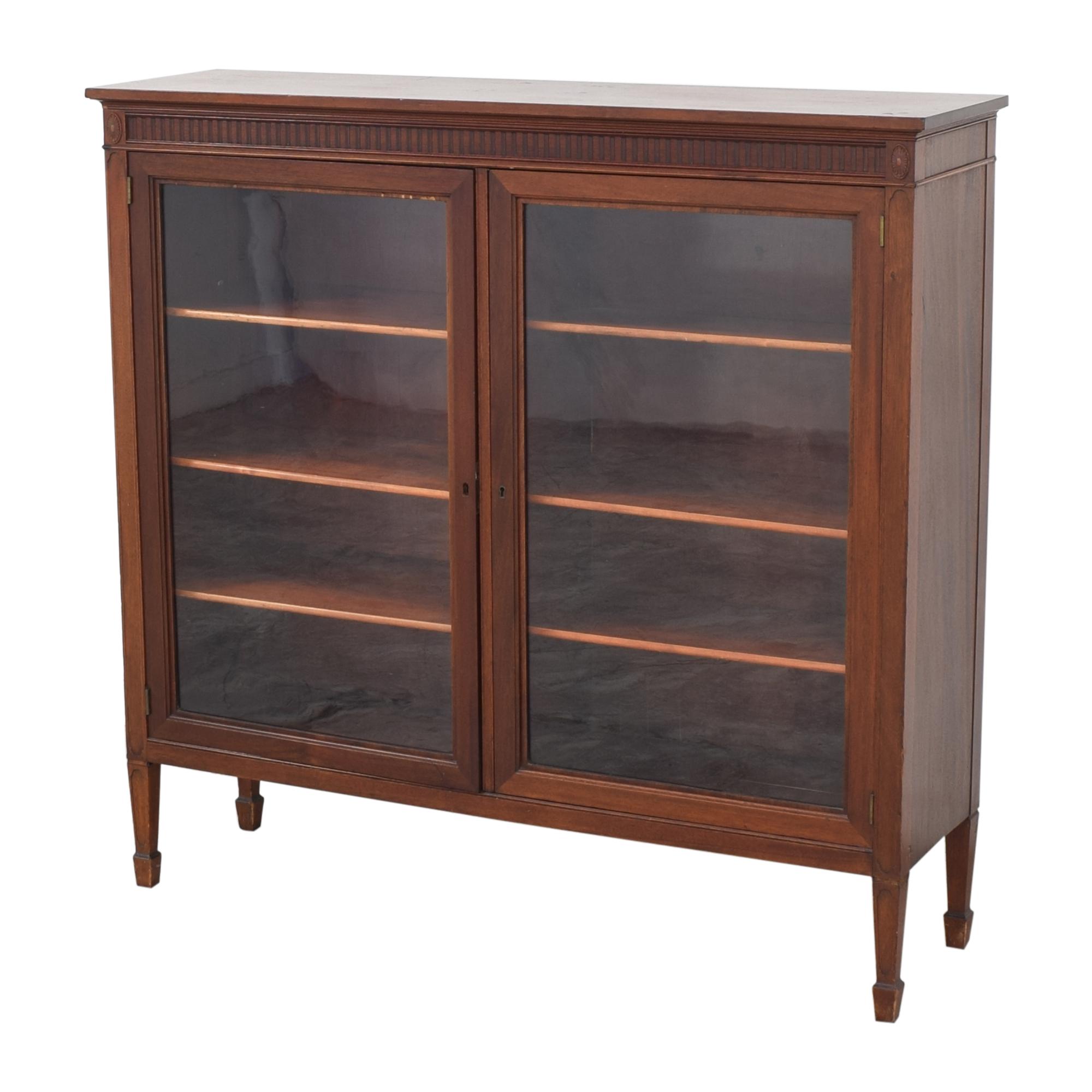 Double Door Curio Cabinet used